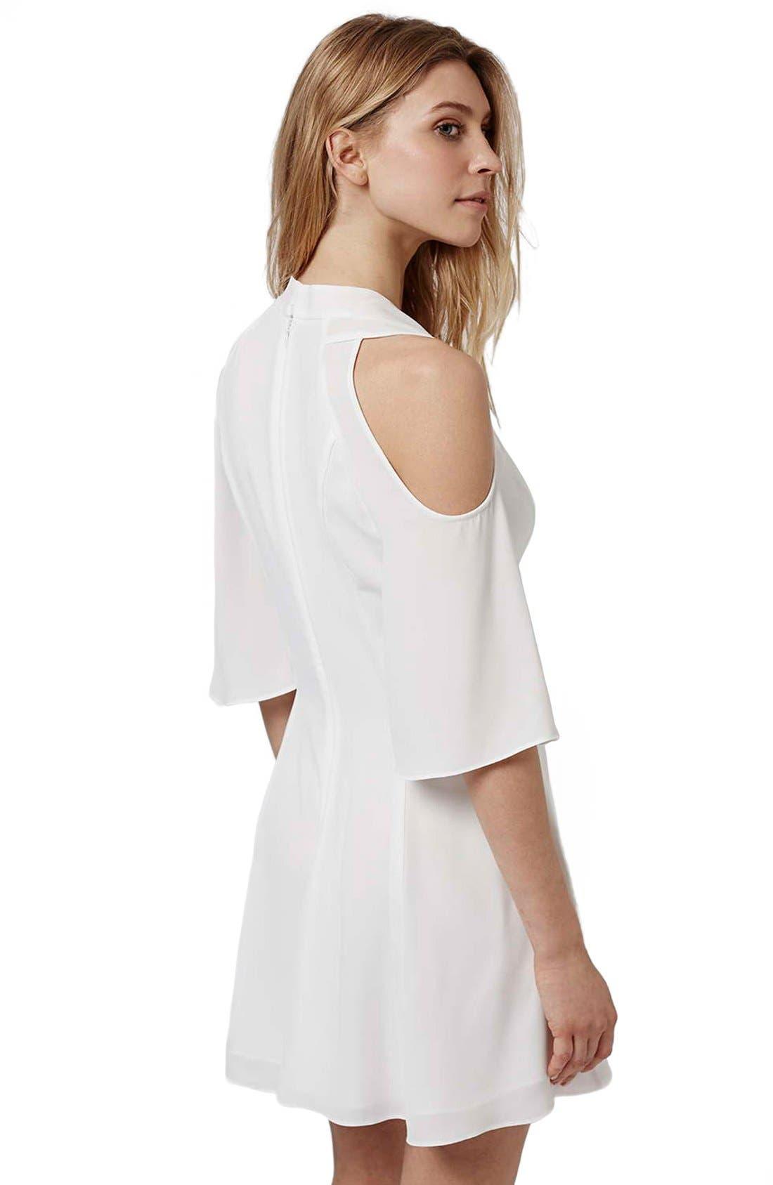 Alternate Image 3  - Topshop Cold Shoulder Skater Dress