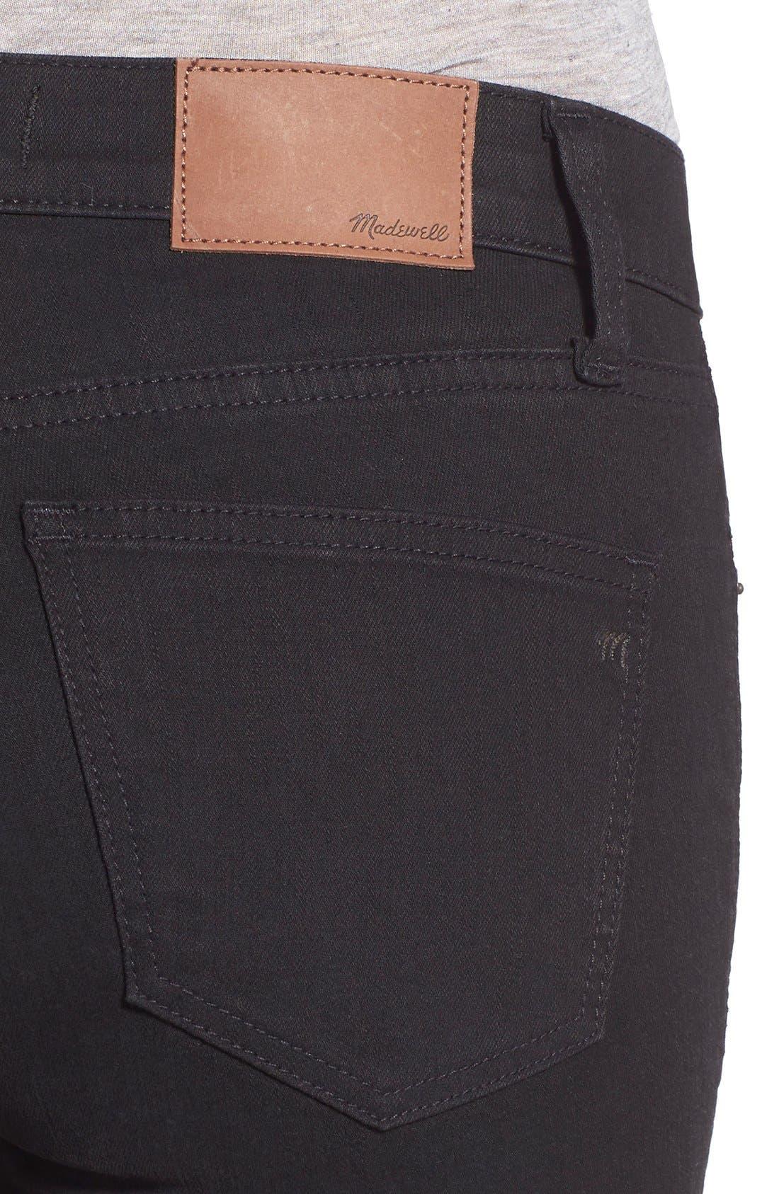 Alternate Image 4  - Madewell 'Skinny Skinny' Knee Rip Jeans (Trent Wash) (Long)