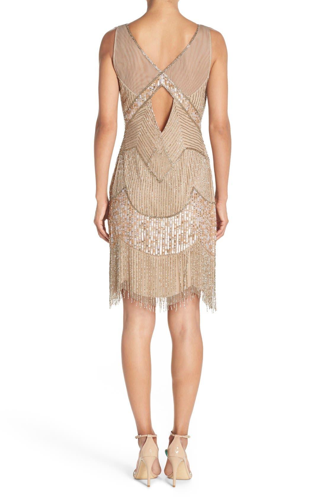 Alternate Image 2  - Adrianna Papell Embellished Mesh Sheath Dress