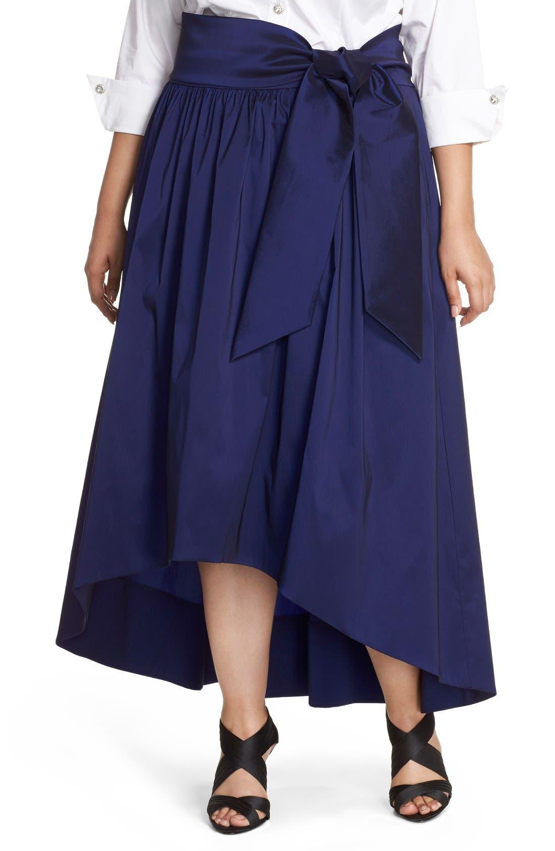 eliza j high low taffeta skirt plus size nordstrom