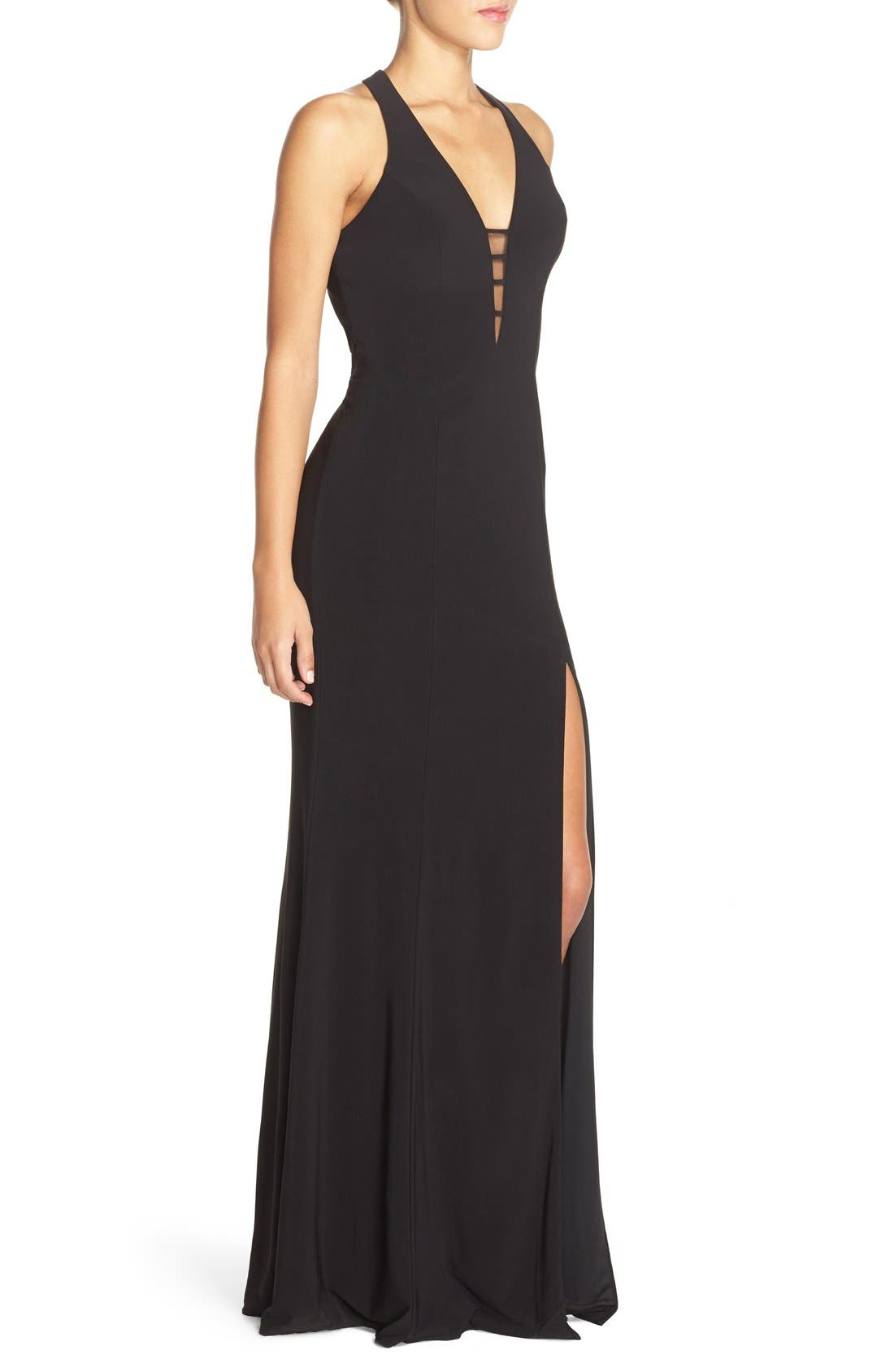 Alternate Image 4  - Faviana Cutout Jersey Gown