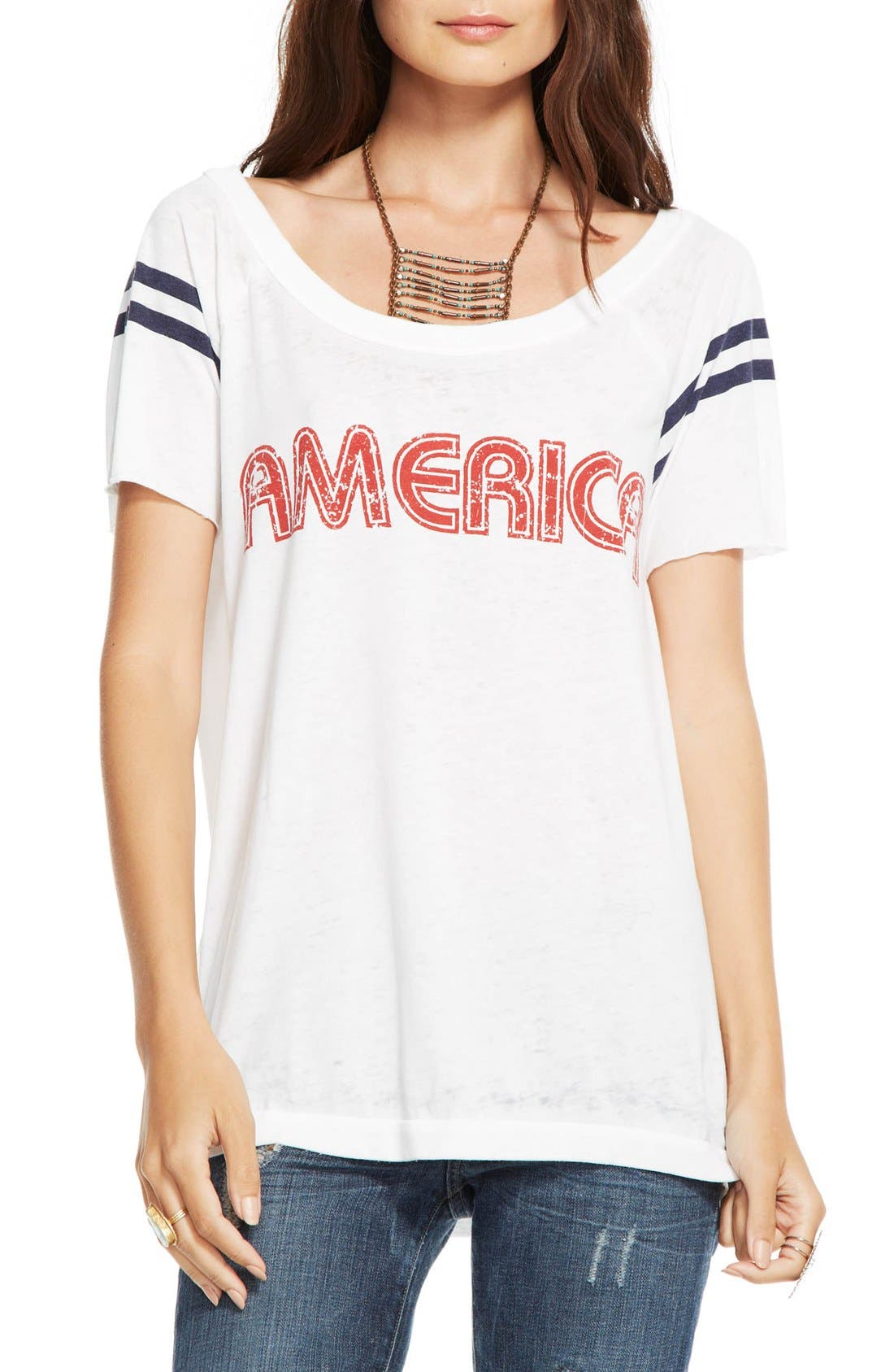 Alternate Image 1 Selected - Chaser 'America' Raw Edge Graphic Tee