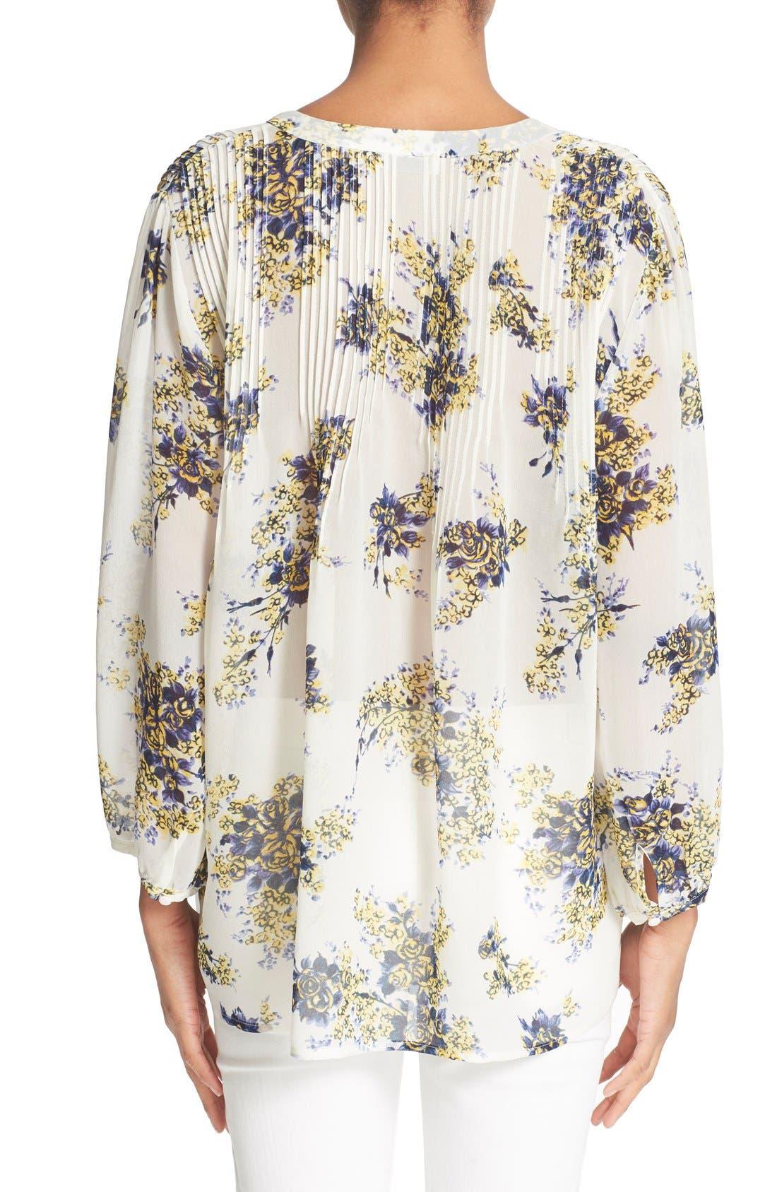 Alternate Image 2  - Joie 'Laurel B' Floral Print Silk Top