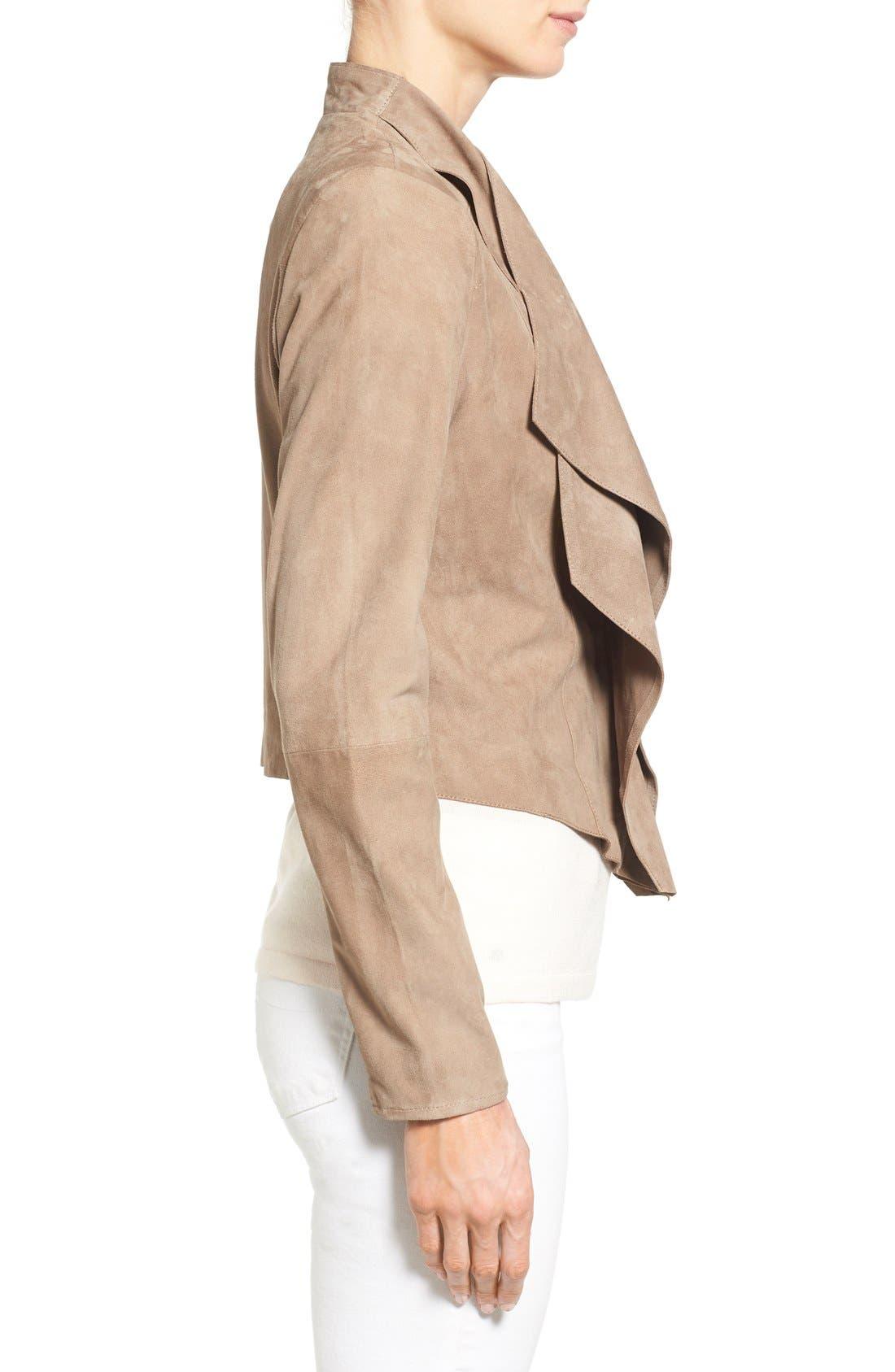Alternate Image 3  - LAMARQUE Double Collar Suede Jacket