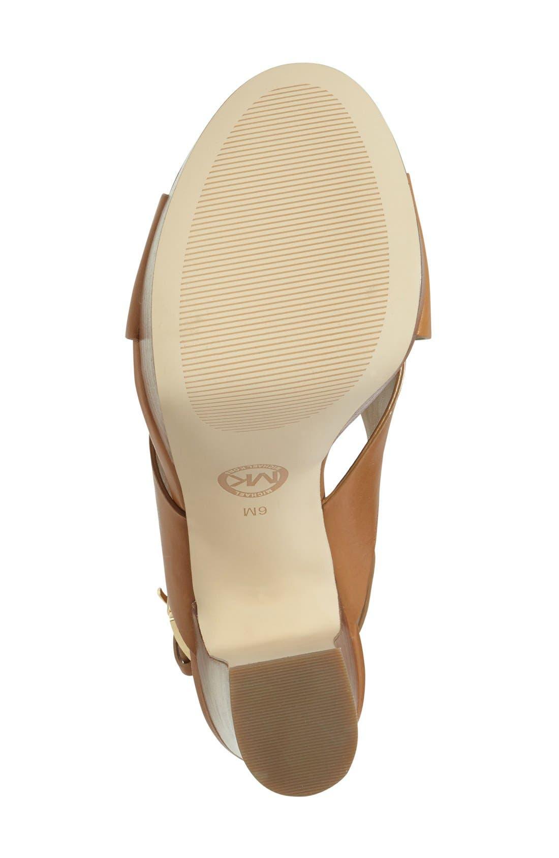 Alternate Image 4  - MICHAEL Michael Kors 'Marina' Slingback Platform Sandal (Women)