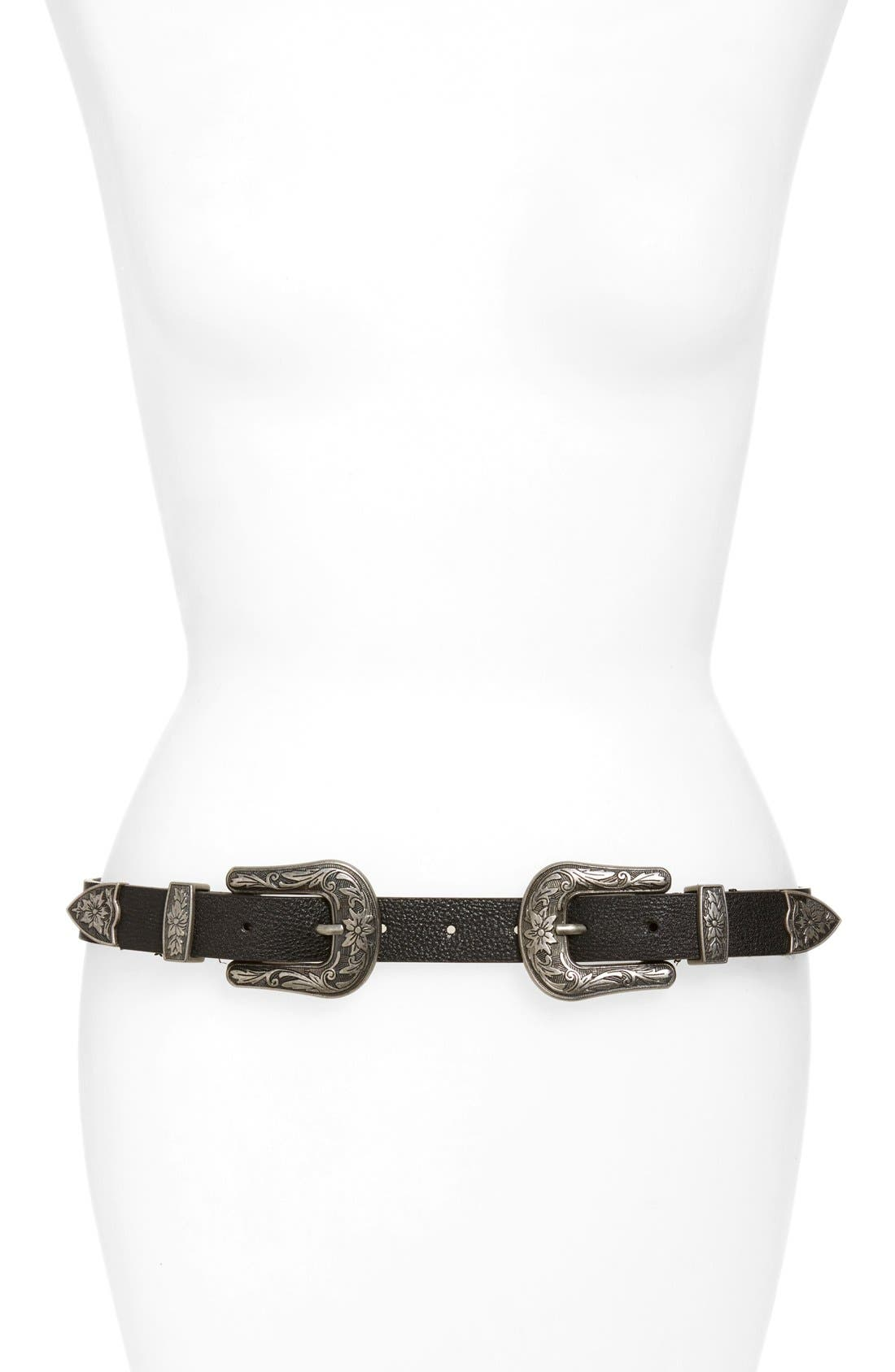 Alternate Image 1 Selected - BP. Double Buckle Belt
