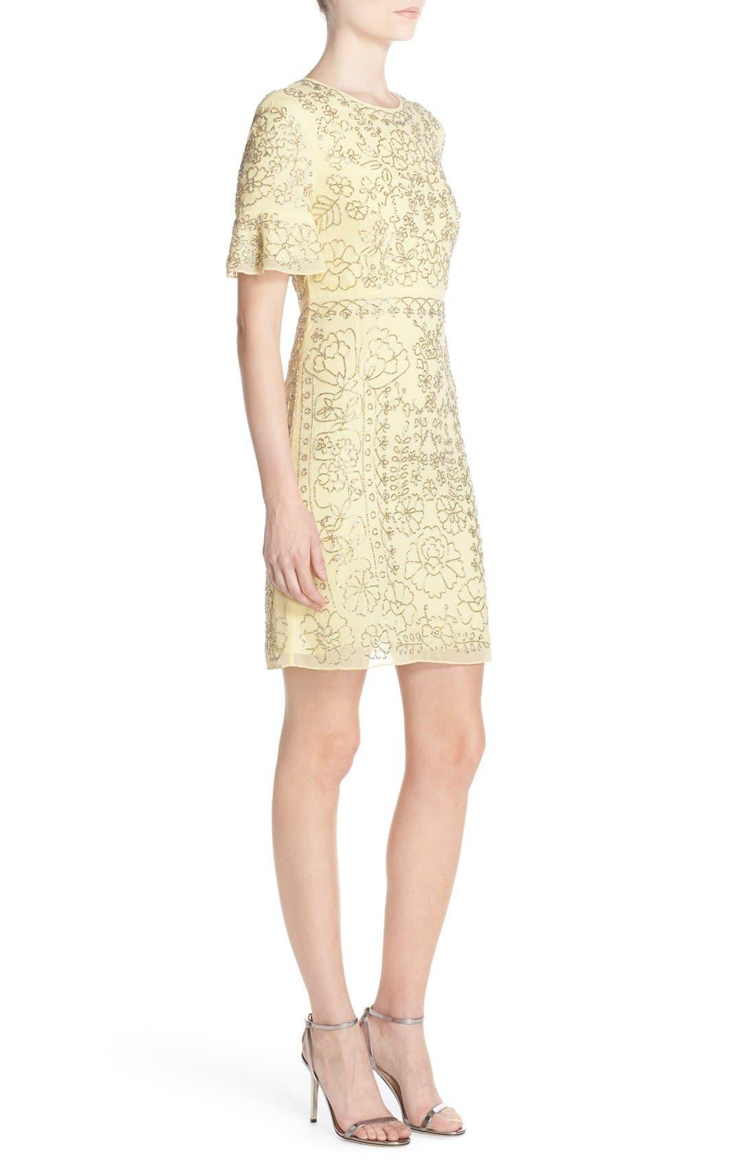 Alternate Image 3  - Needle & Thread Beaded Georgette Sheath Dress
