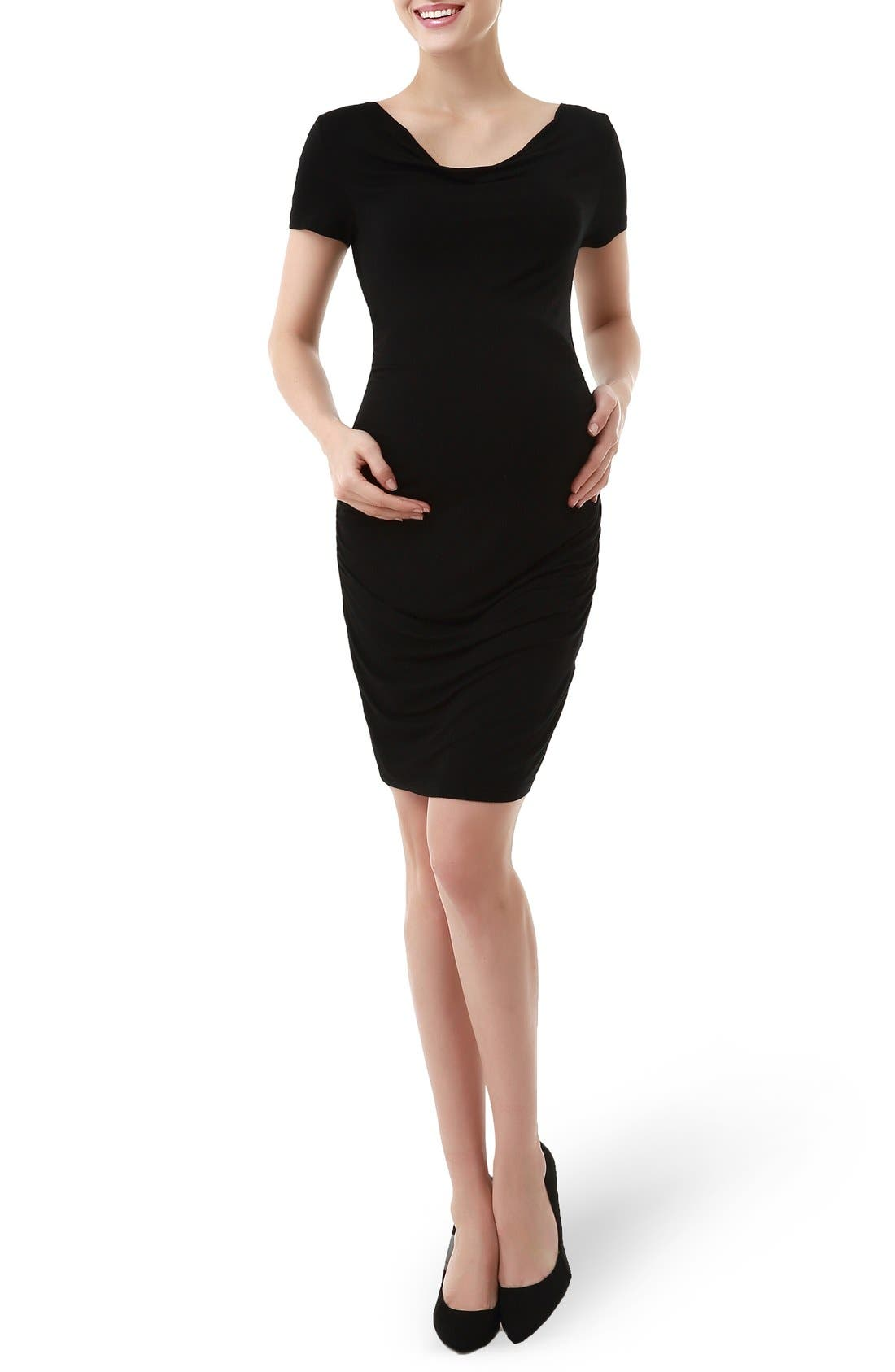 KIMI AND KAI 'Kate' Cowl Neck Ruched Maternity
