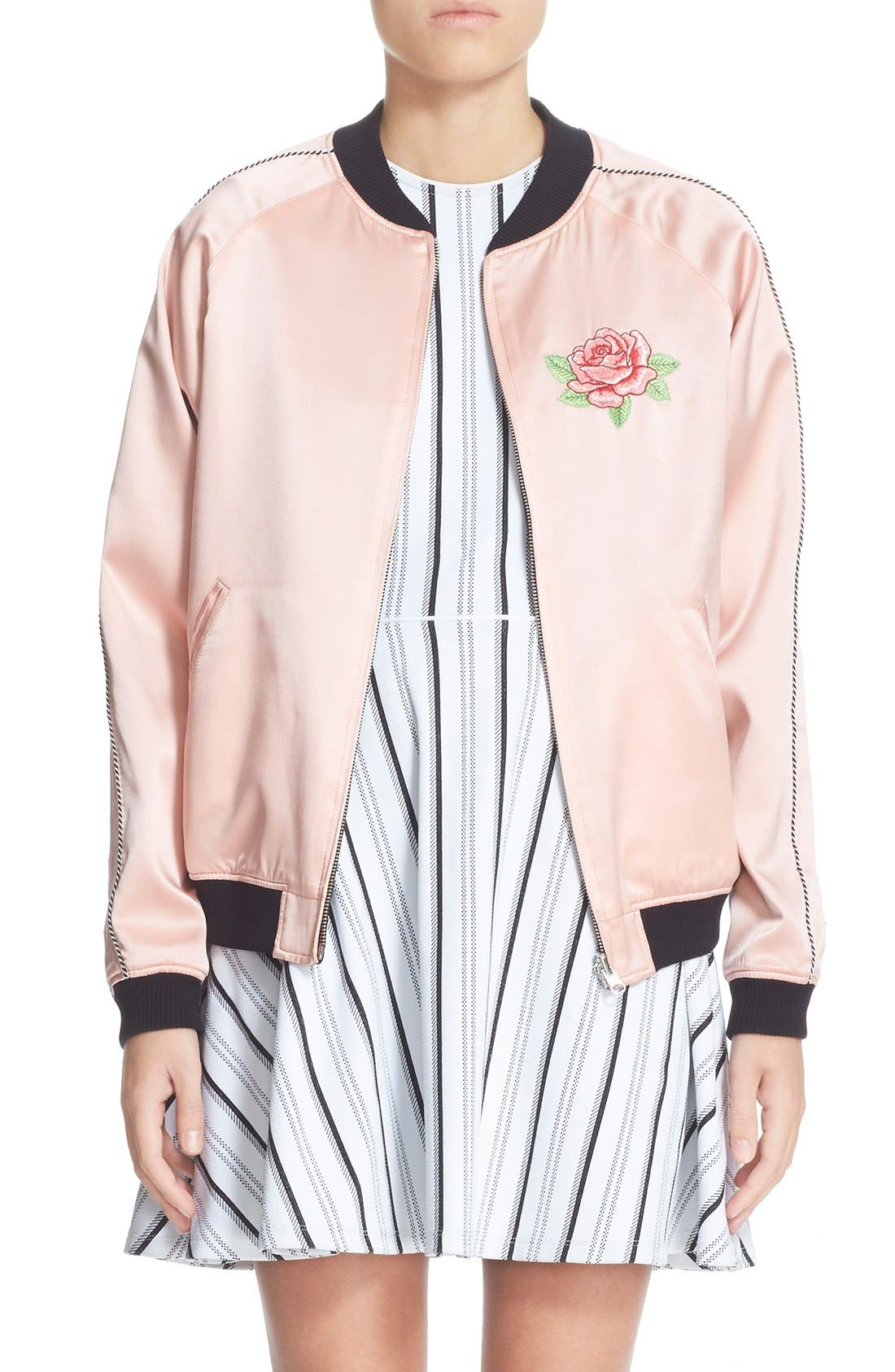 Alternate Image 1 Selected - Opening Ceremony Reversible Embroidered Silk Bomber Jacket