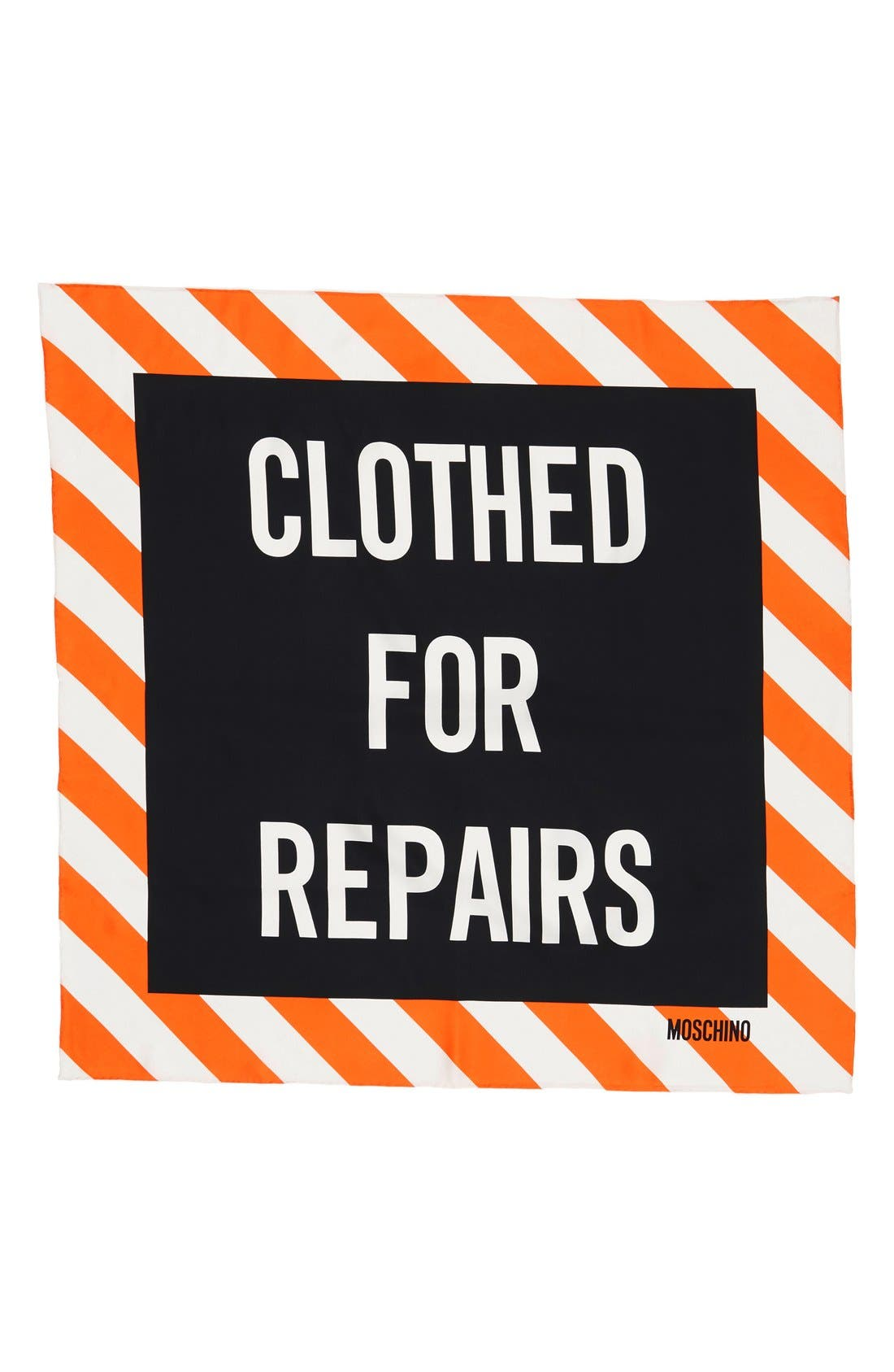 Alternate Image 2  - Moschino 'Clothed for Repairs' Square Silk Scarf