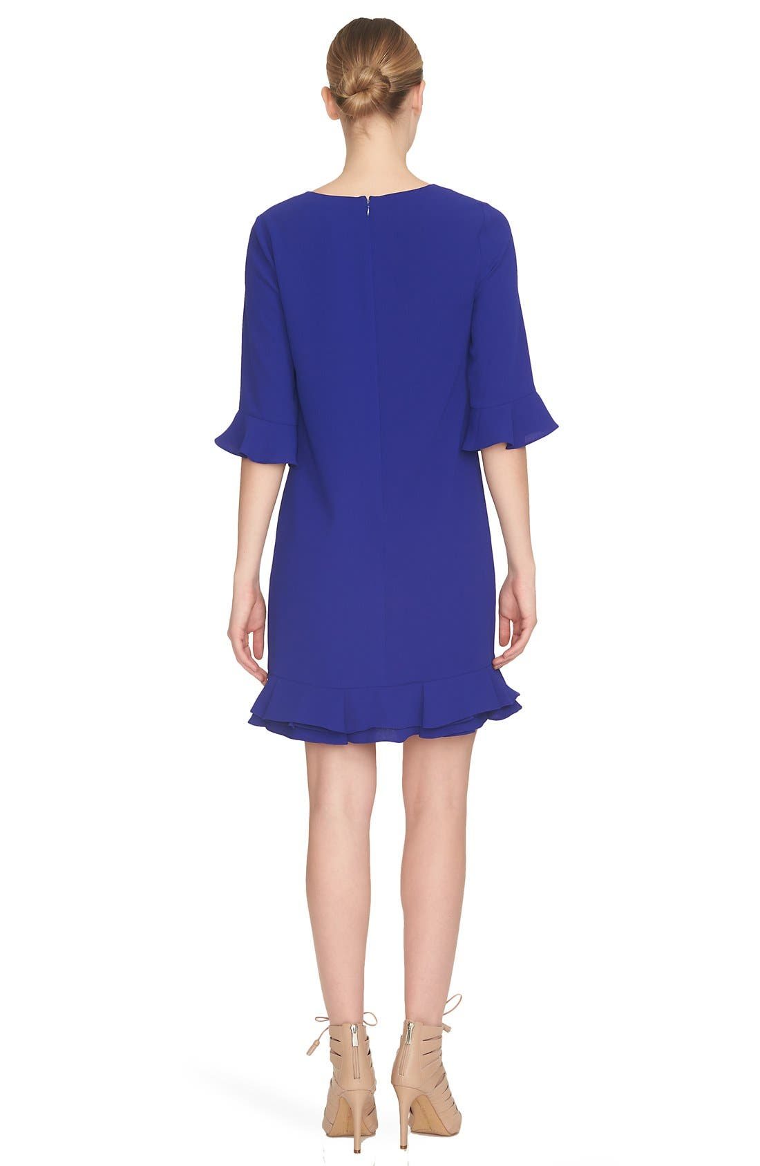 Alternate Image 2  - CeCe 'Kate' Ruffle Hem Shift Dress (Regular & Petite)