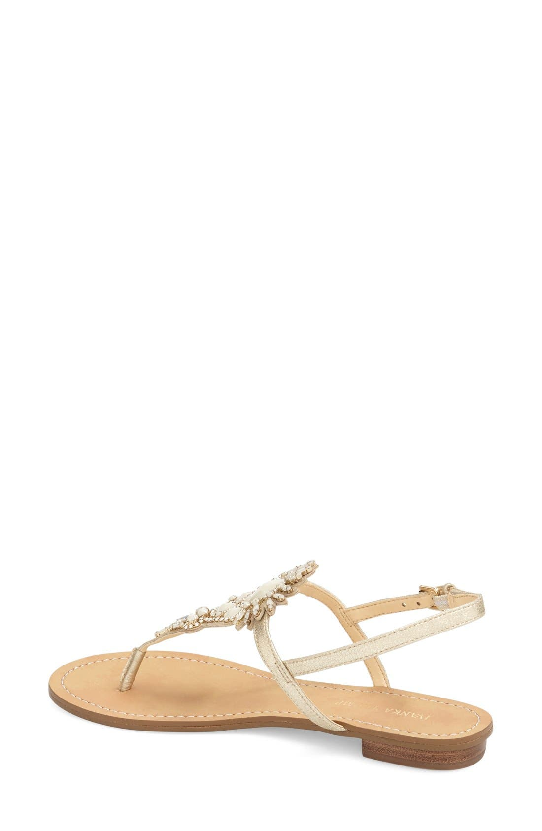 Alternate Image 2  - Ivanka Trump 'Faron' Bead Embellished Flat Sandal (Women)