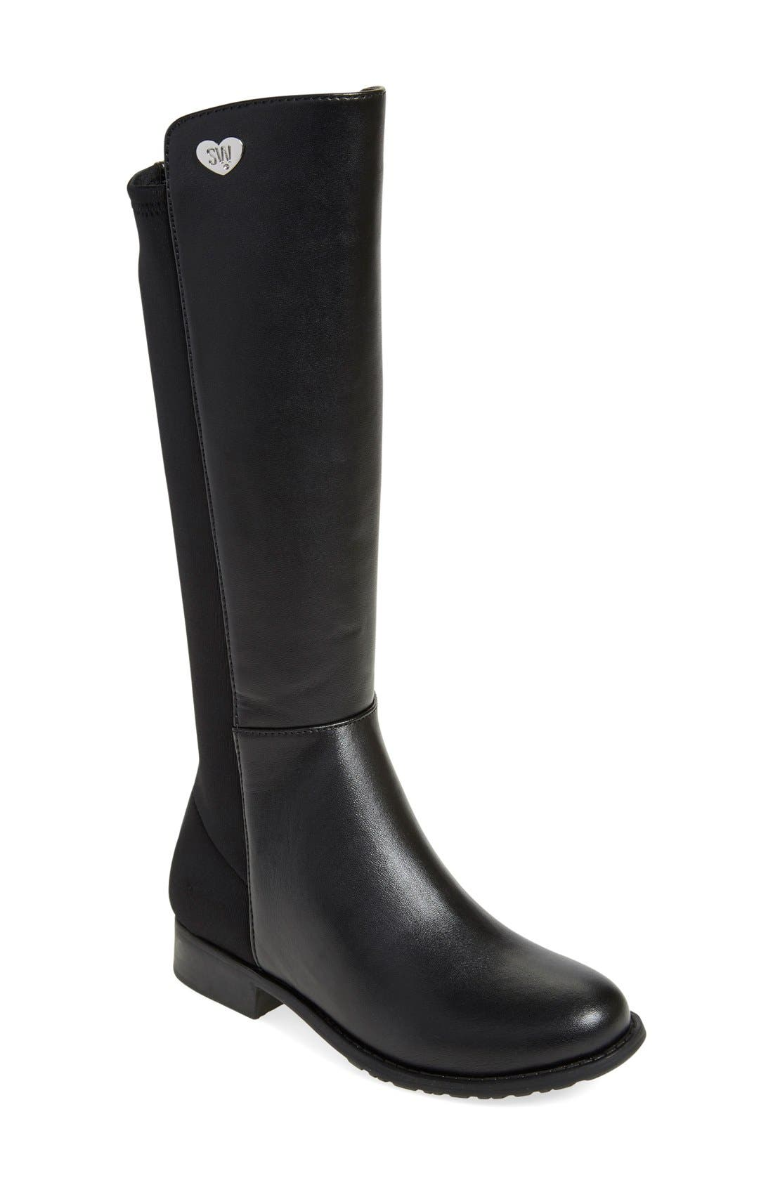 Stuart Weitzman '50/50' Stretch Back Riding Boot (Walker, Toddler, Little Kid & Big Kid)
