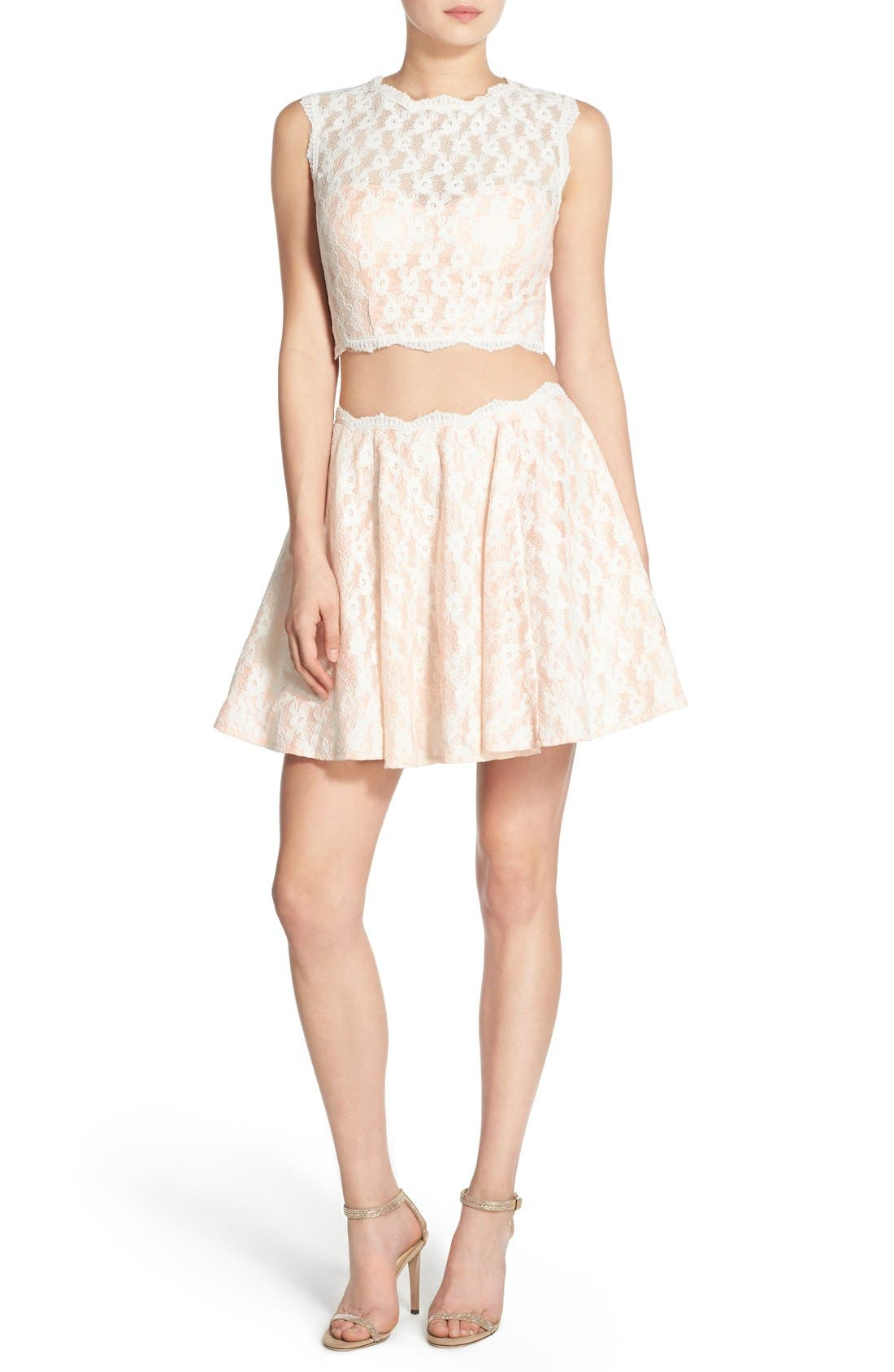 Alternate Image 1 Selected - Way-In Lace Two-Piece Dress