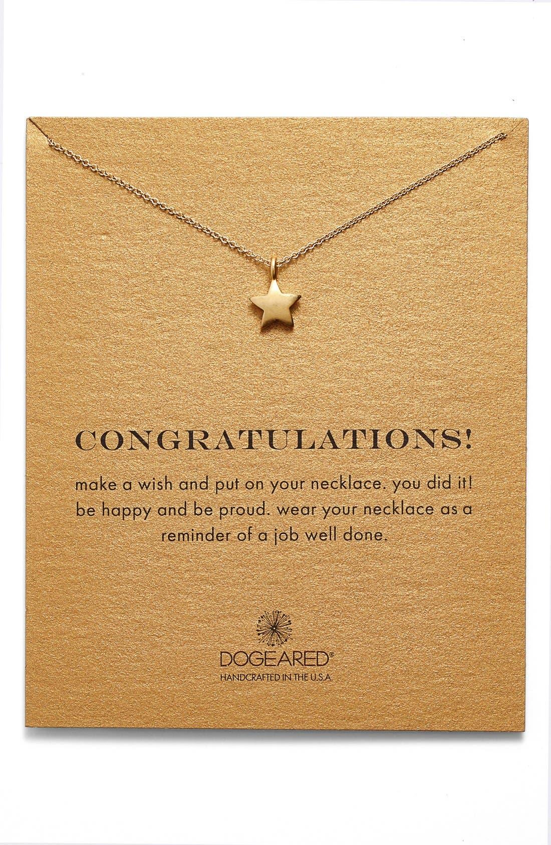 Alternate Image 1 Selected - Dogeared 'Congratulations' Star Pendant Necklace