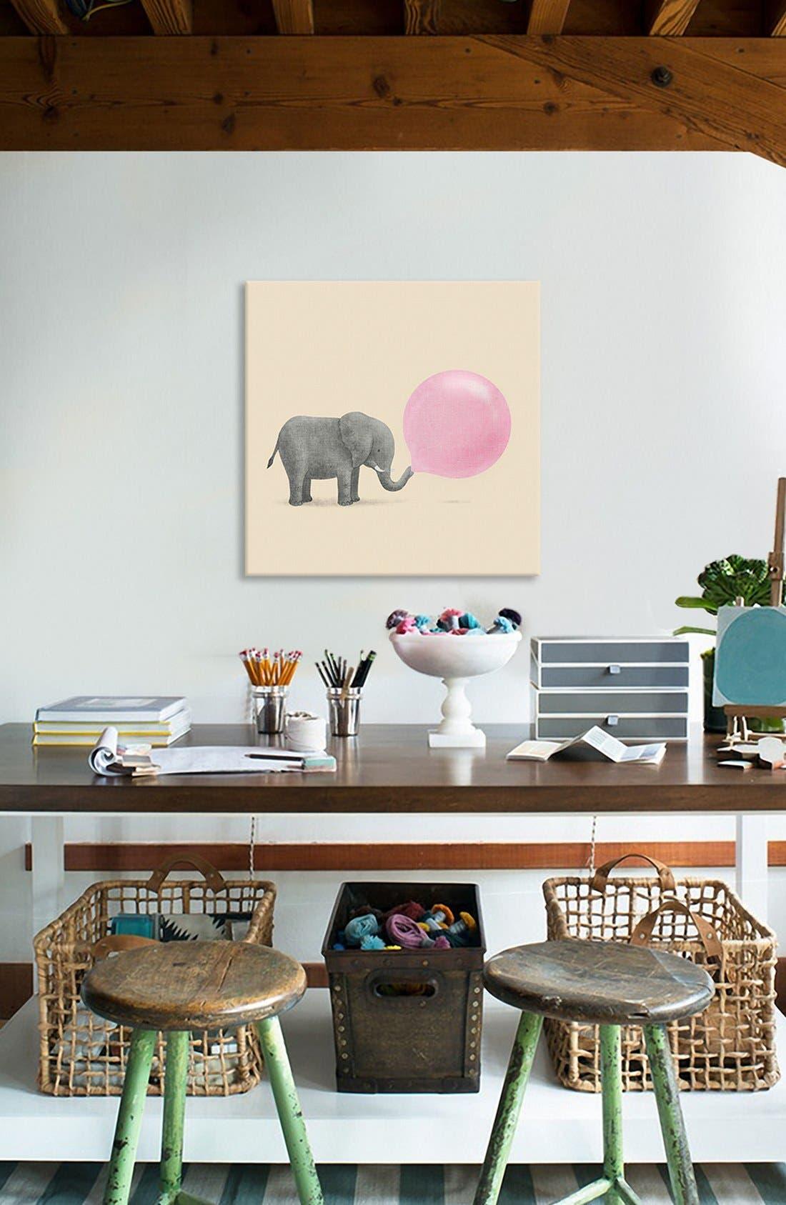 Alternate Image 2  - iCanvas 'Jumbo Bubble Gum' Giclée Print Canvas Art