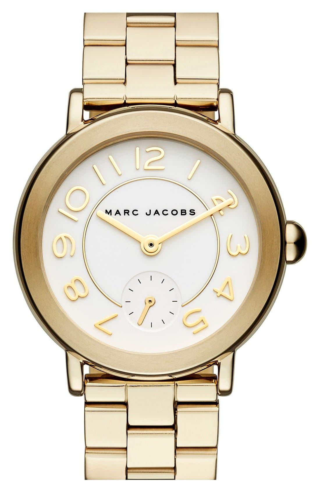 Alternate Image 1 Selected - MARC JACOBS 'Riley' Bracelet Watch, 36mm