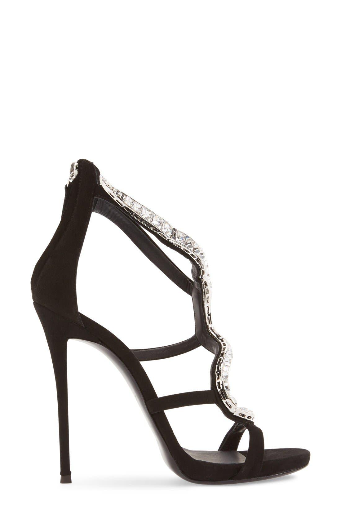 Alternate Image 4  - Giuseppe Zanotti 'Alien' Crystal Sandal (Women) (Nordstrom Exclusive)