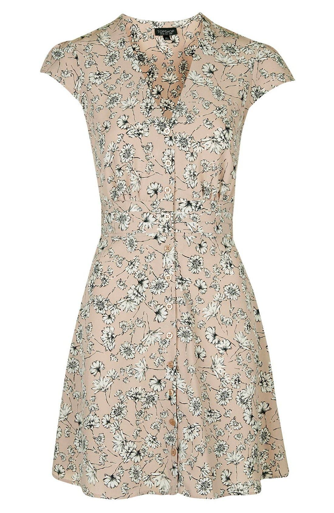 Alternate Image 4  - Topshop 'Dog Daisy' Print Button Front Dress