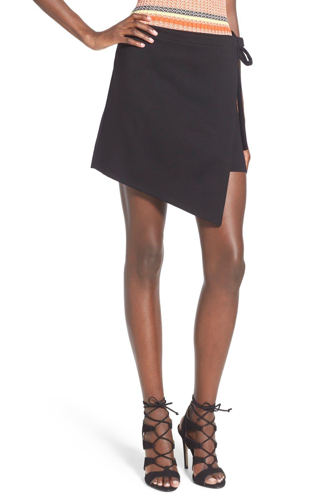 Leith Asymmetrical Wrap Skirt