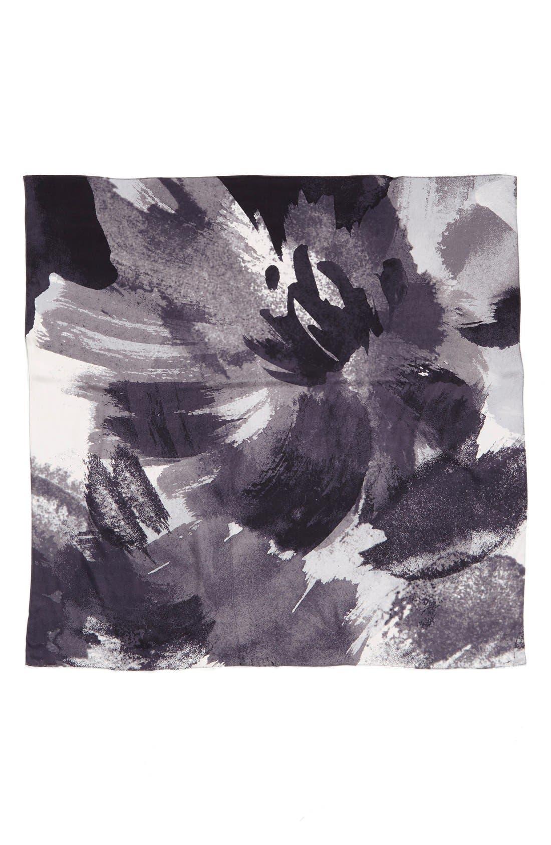 Alternate Image 2  - Halogen® 'Spliced Color Wash' Square Silk Scarf