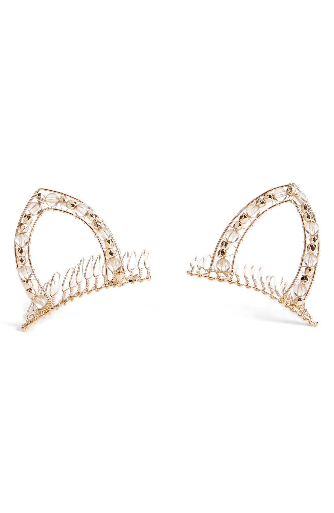 Alternate Image 1 Selected - Berry Cat Ear Combs (Set of 2)