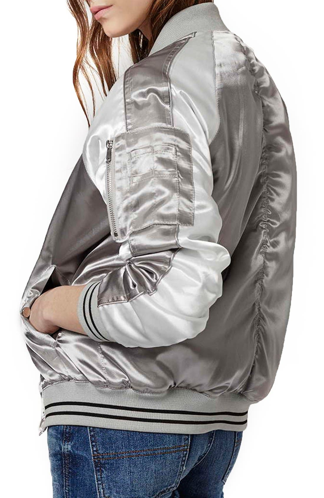 Alternate Image 2  - Topshop Sateen MA-1 Bomber Jacket