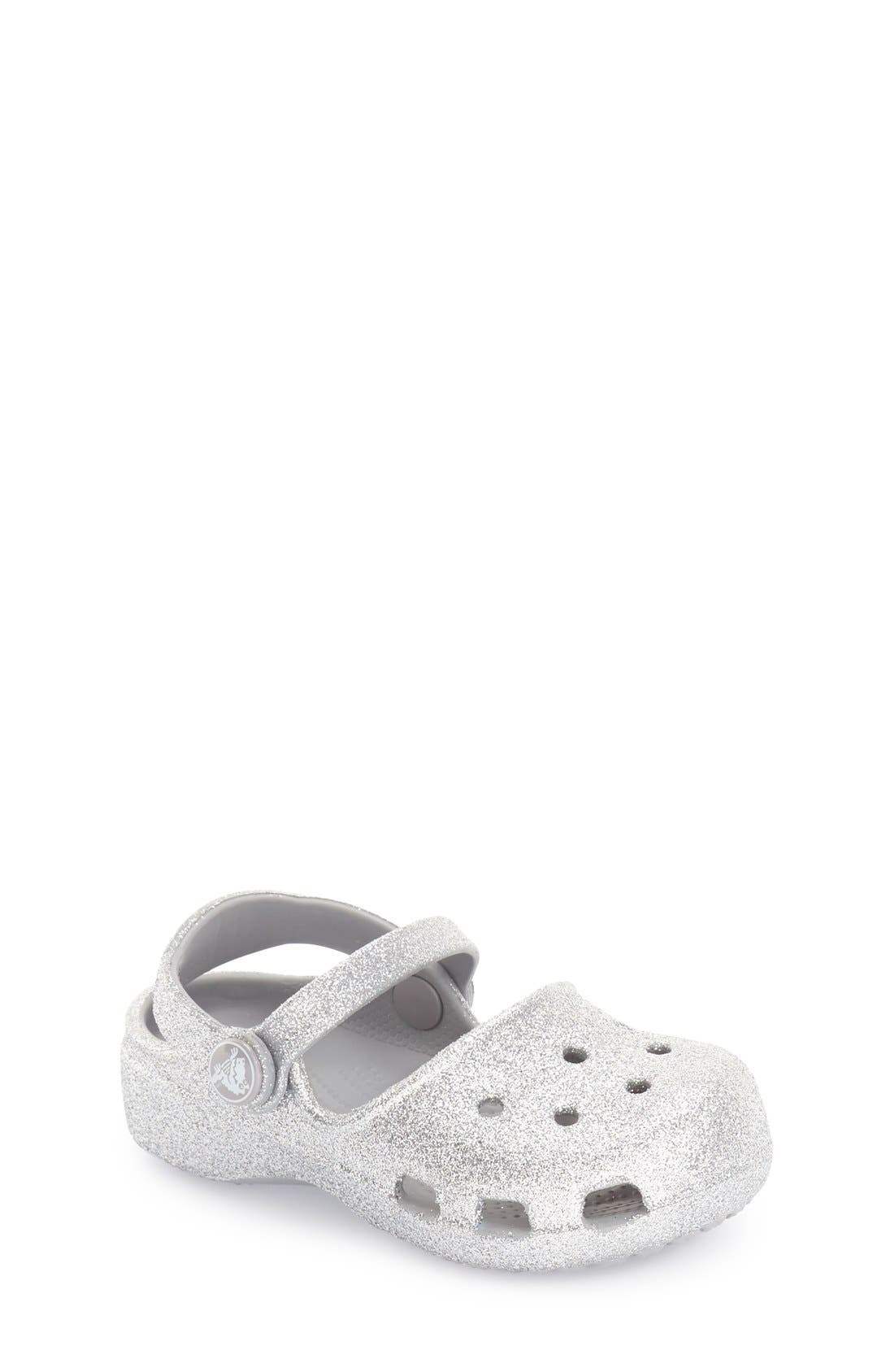 CROCS™ 'Karin - Sparkle' Mary Jane Slip-On (Toddler & Little Kid)