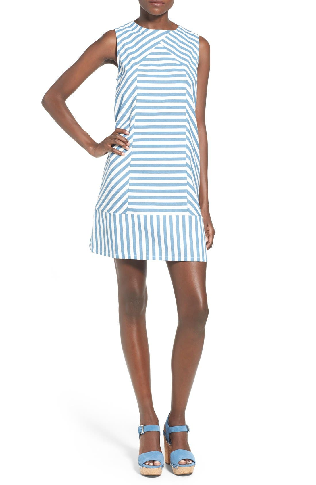 Alternate Image 1 Selected - Rachel Antonoff 'Sam' Stripe Cotton Shift Dress