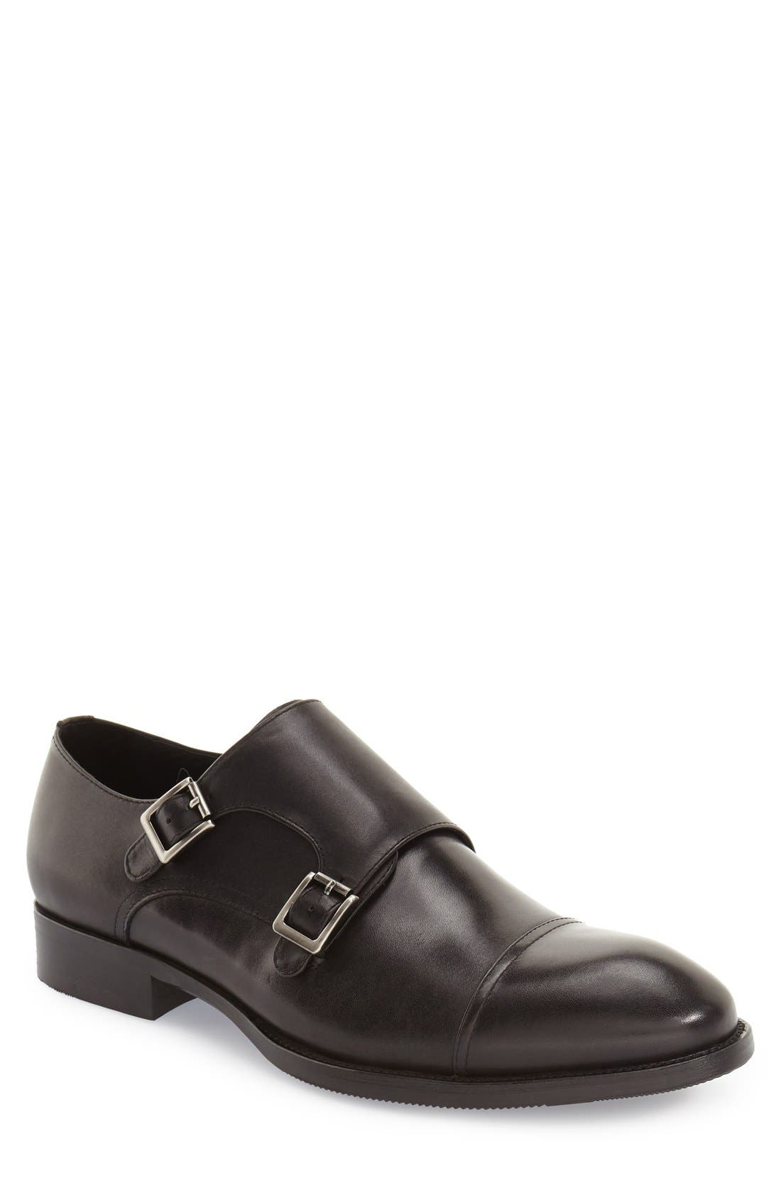 Zanzara 'Strauss' Double Monk Strap Shoe (Men)