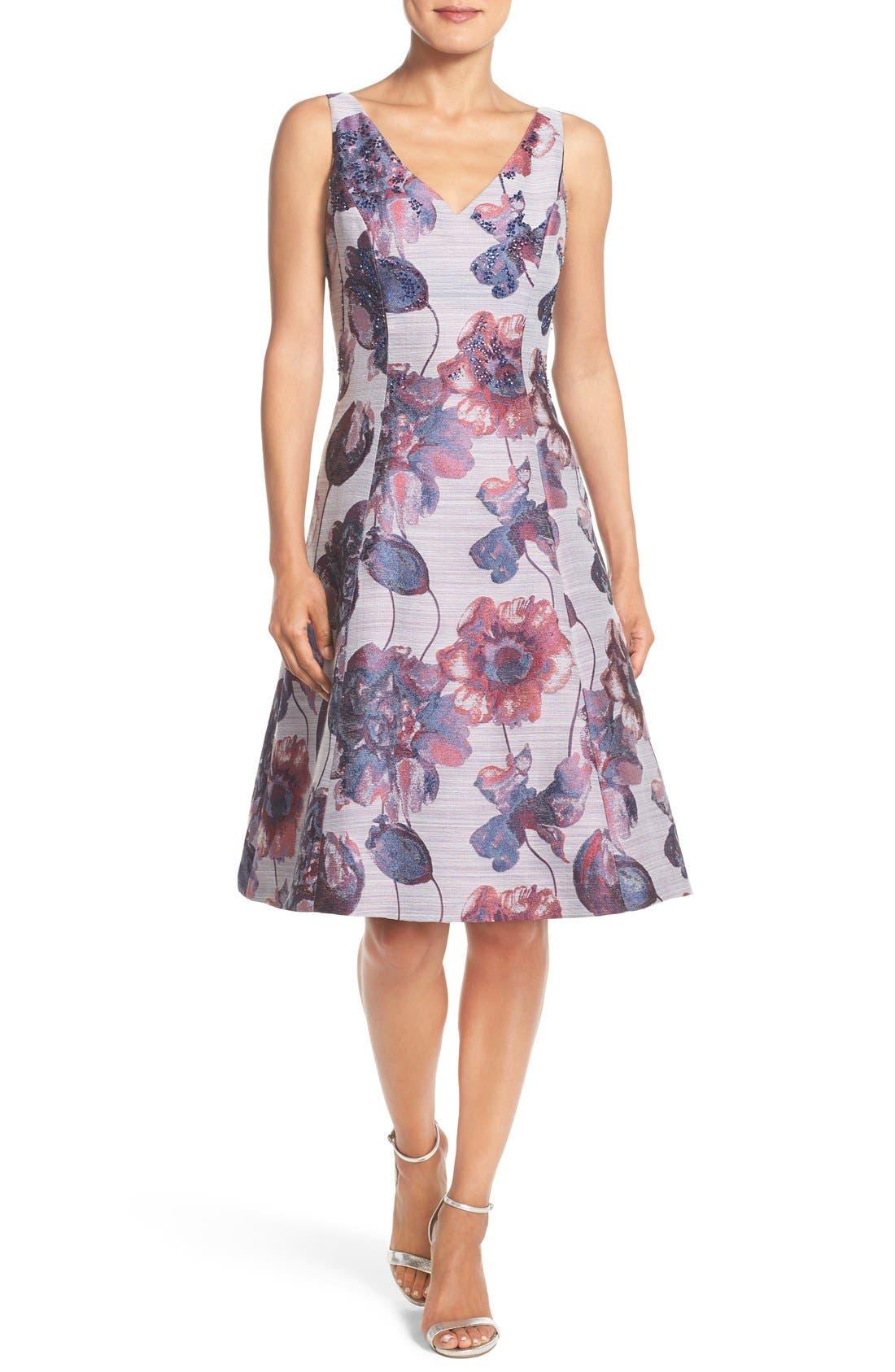 Alternate Image 5  - Adrianna Papell Floral Print Fit & Flare Dress (Regular & Petite)