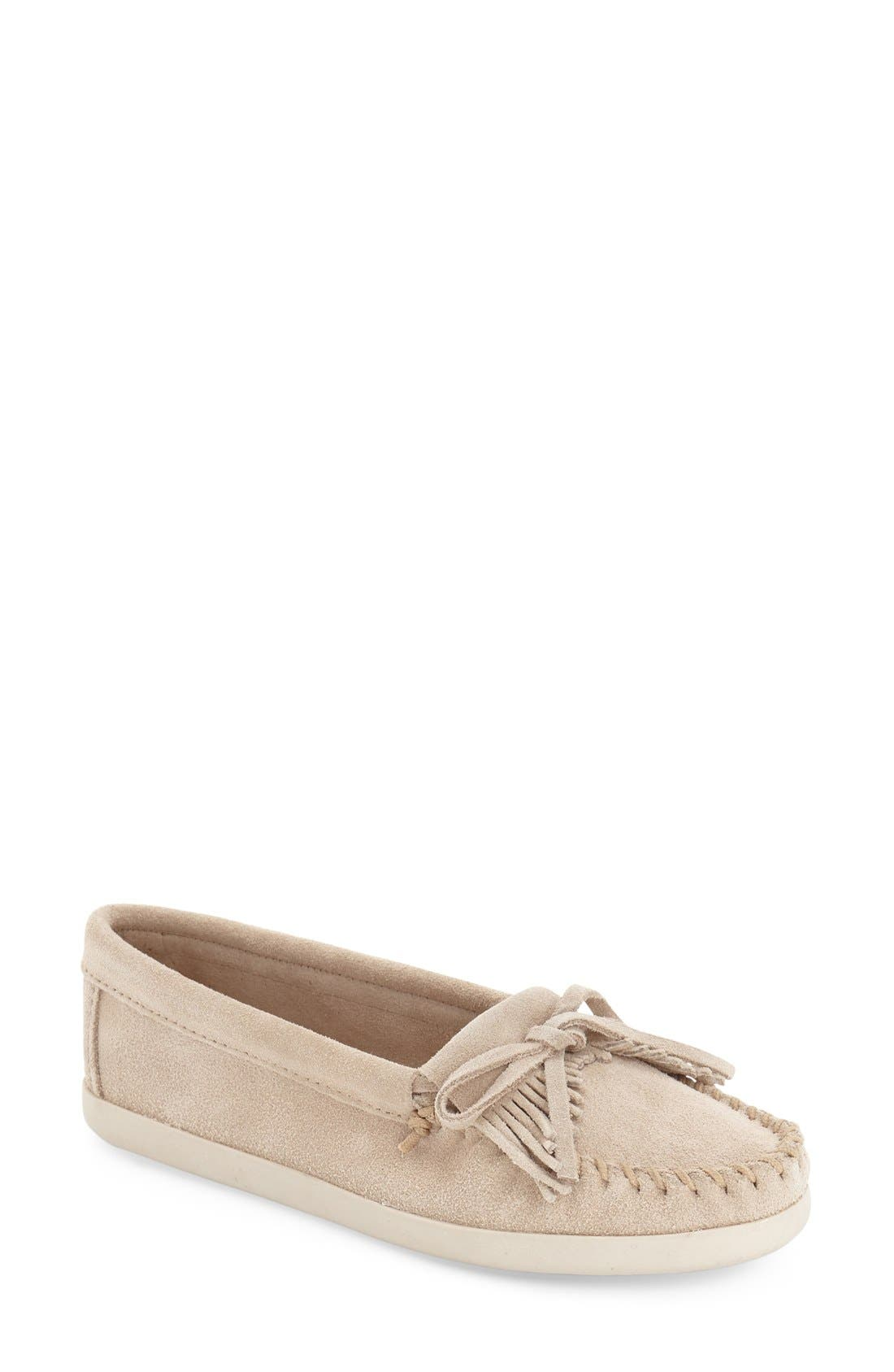 Minnetonka 'Newport Kilty' Moccasin Flat (Women)