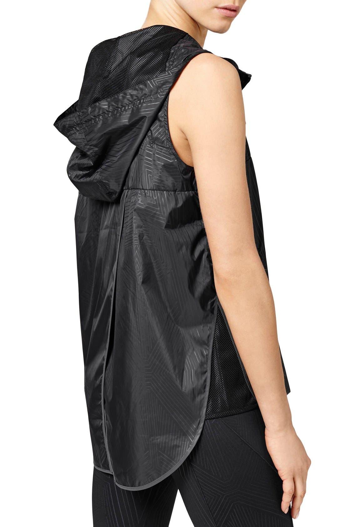 Alternate Image 3  - IVY PARK® Reflective Print Hooded Sleeveless Jacket