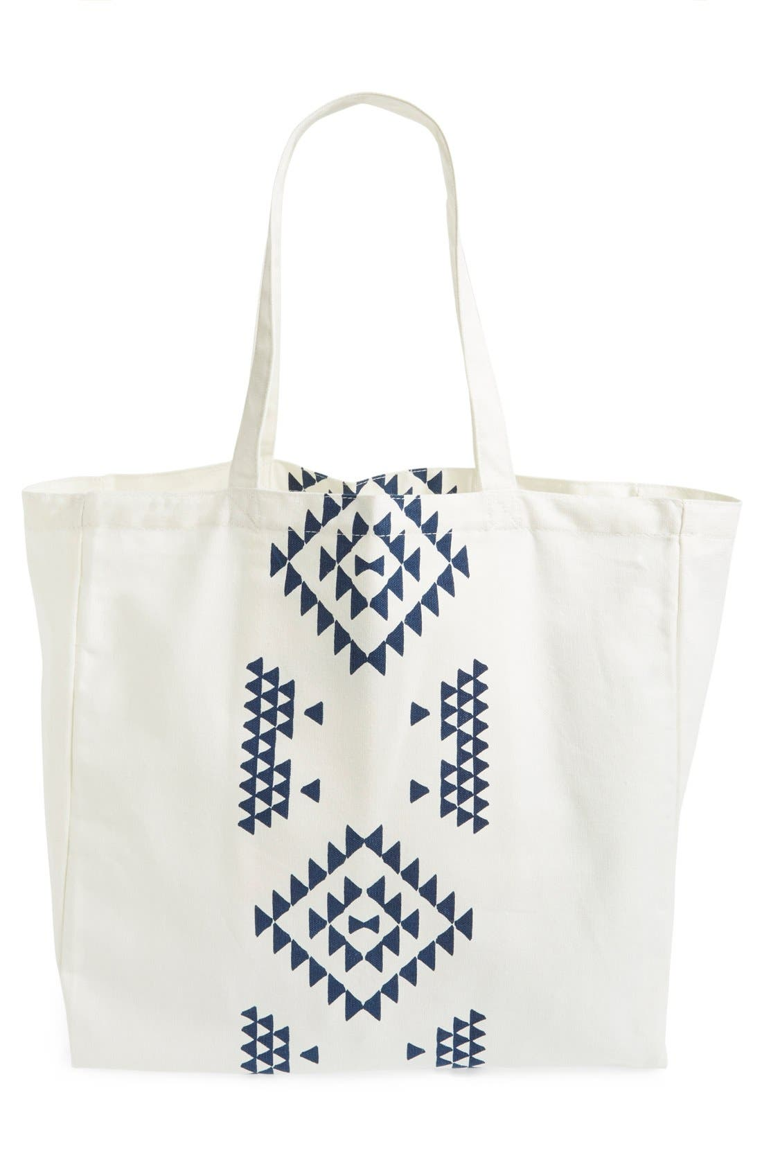Alternate Image 3  - Soleil Geo Print Canvas Tote