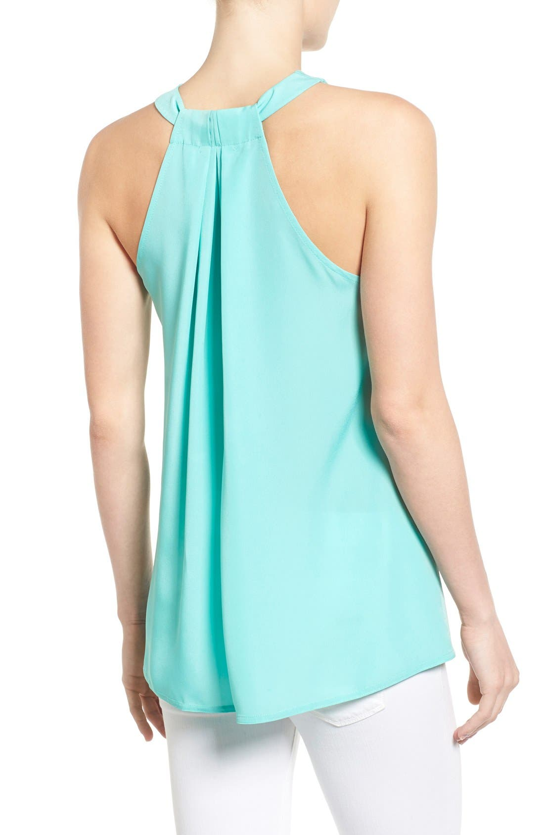 Alternate Image 2  - Halogen® Mixed Media Racerback Tank (Regular & Petite)