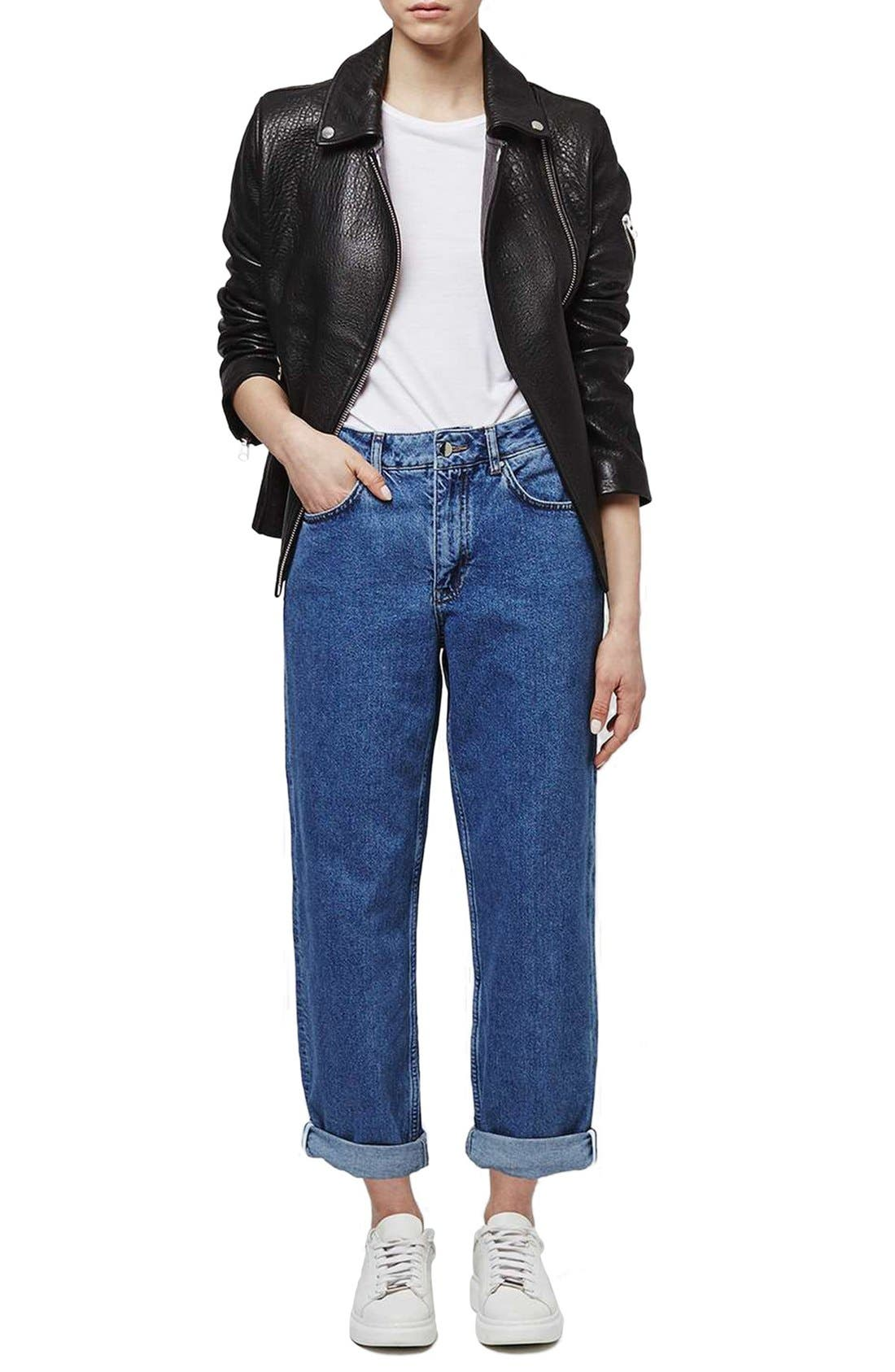 Alternate Image 2  - Topshop Boutique High Rise Relaxed Boyfriend Jeans