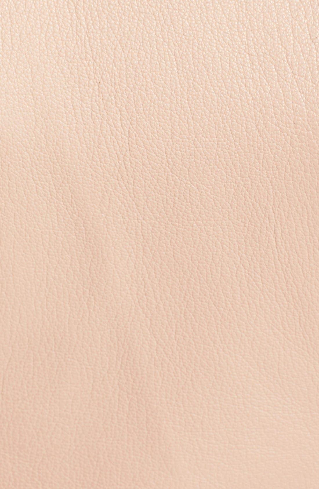 Alternate Image 3  - Herve Leger 'Mila' Ruffle Detail Lambskin Leather Jacket
