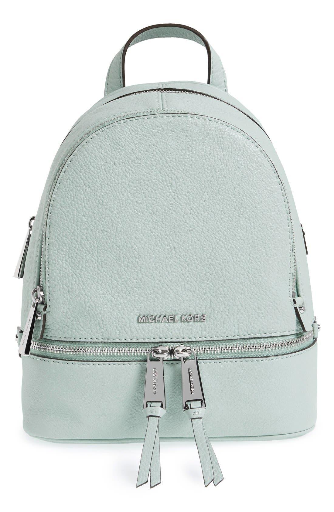 Main Image - MICHAEL Michael Kors 'Extra Small Rhea' Leather Backpack