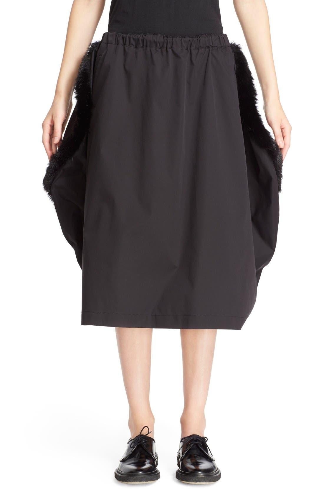 Main Image - Comme des Garçons Stretch Twill Midi Skirt