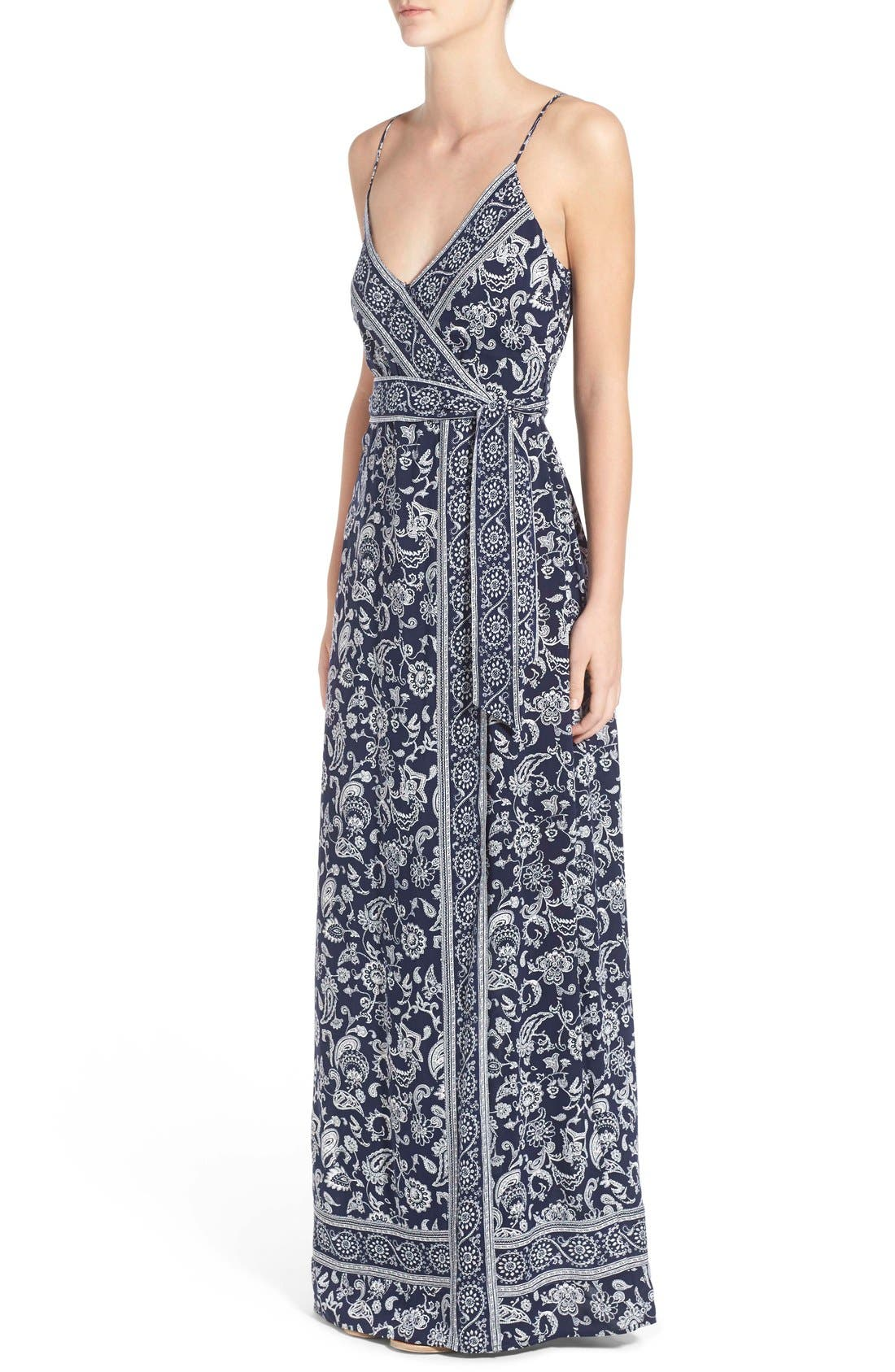 Alternate Image 3  - PAIGE 'Regina' Print Maxi Surplice Dress