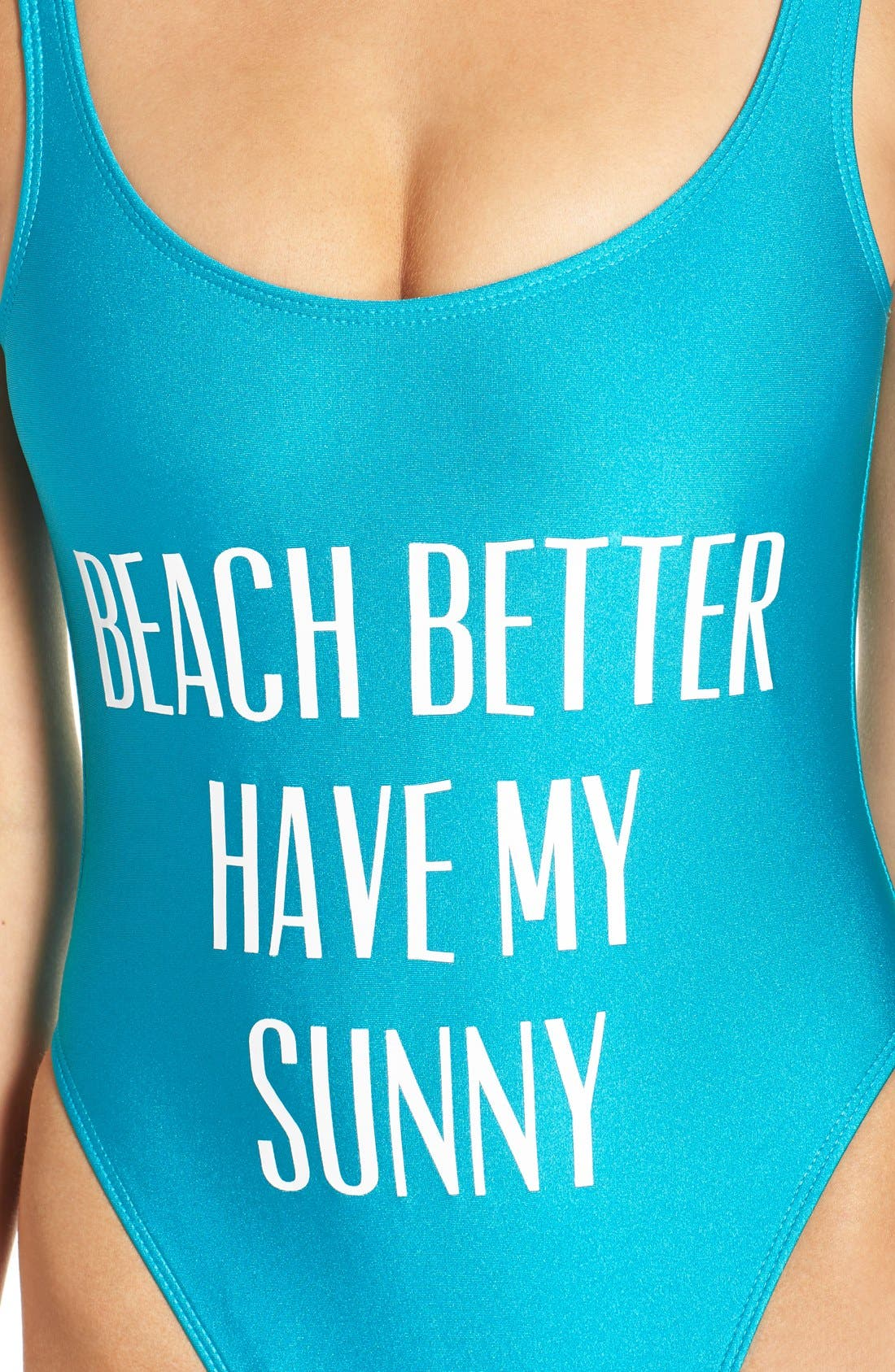 Alternate Image 4  - Private Party 'Beach Better Have My Sunny' One-Piece Swimsuit