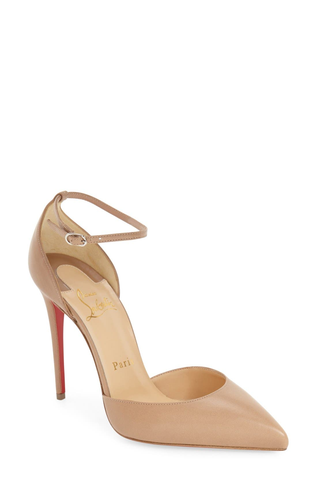 Alternate Image 1 Selected - Christian Louboutin Uptown Ankle Strap Pointy Toe Pump