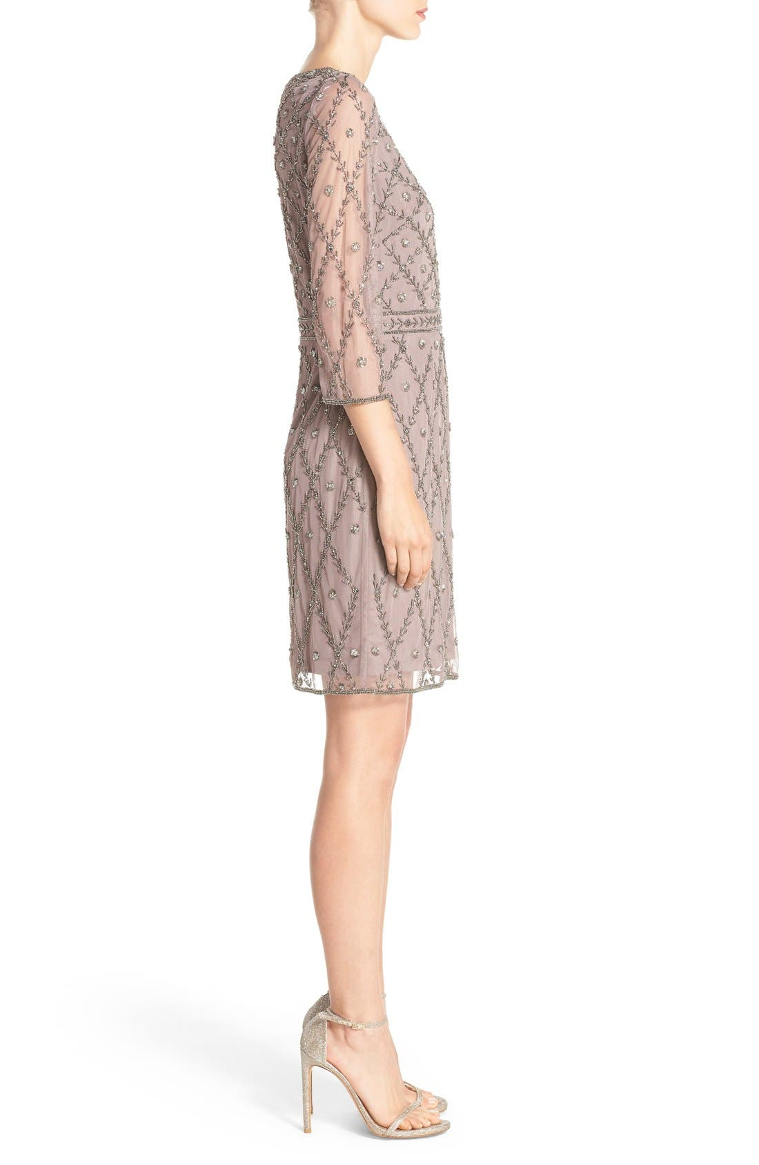 Alternate Image 3  - Adrianna Papell Embellished Mesh Sheath Dress
