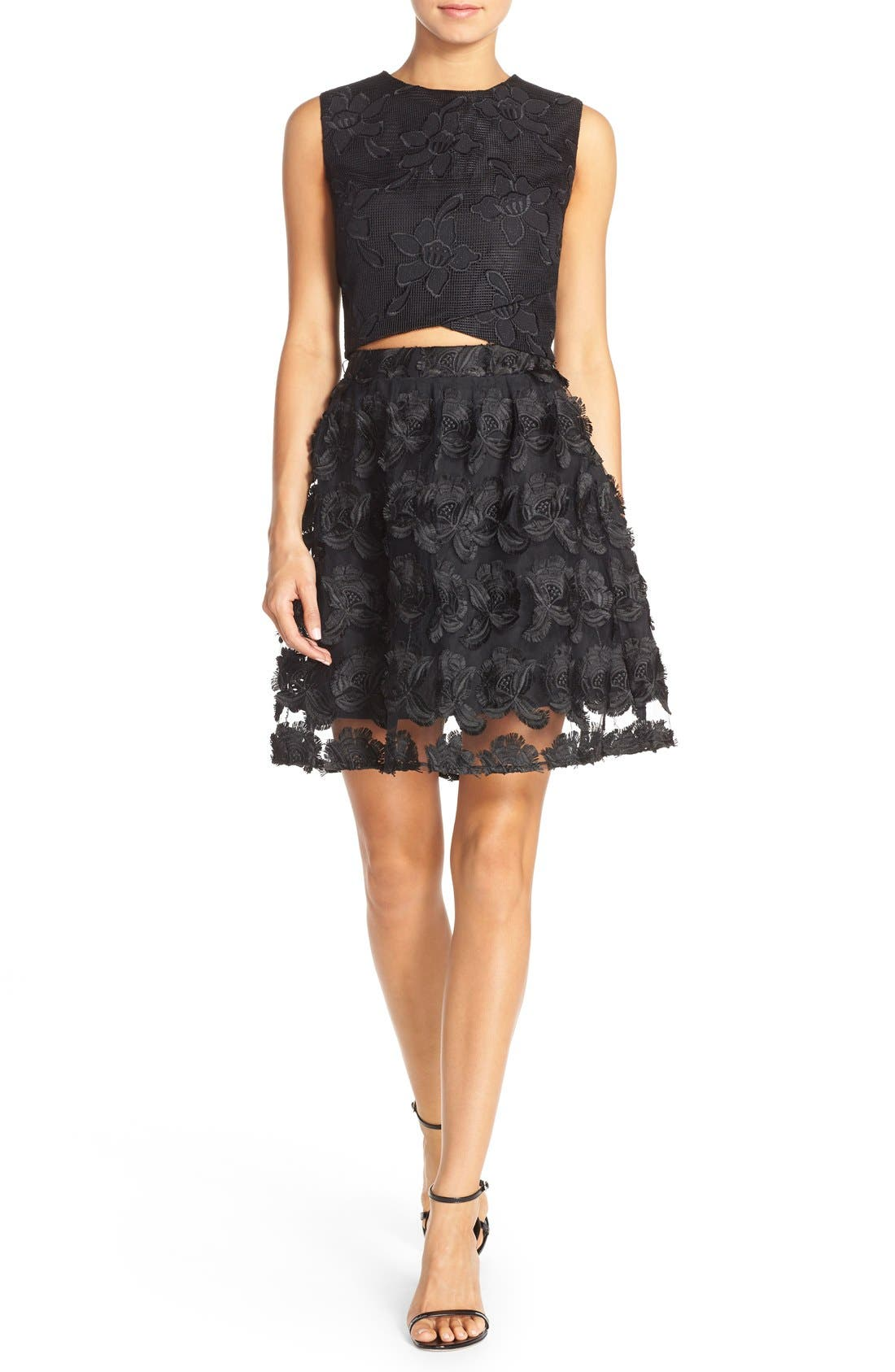 Alternate Image 1 Selected - Ali & Jay Lace Embroidered Two-Piece Dress