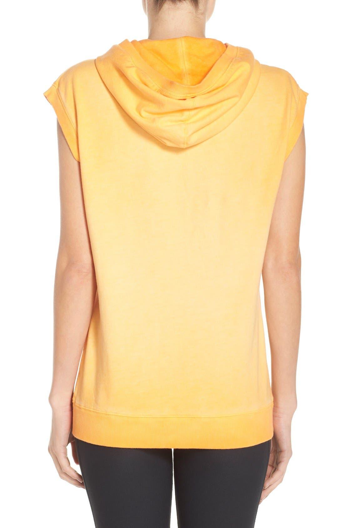 Alternate Image 2  - Nike Logo Sleeveless Cotton Hoodie