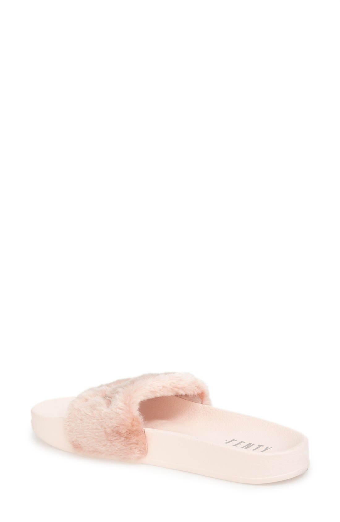 Alternate Image 2  - FENTY PUMA by Rihanna 'Leadcat Fenty' Faux Fur Slide Sandal (Women)