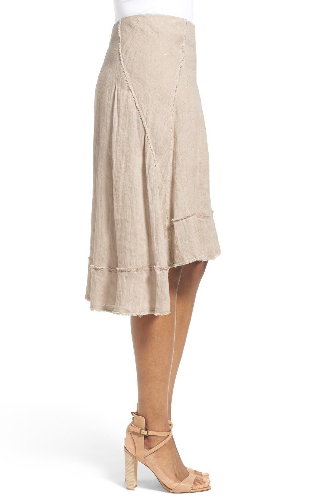 Alternate Image 3  - Elie Tahari 'Florence' High/Low Linen Skirt
