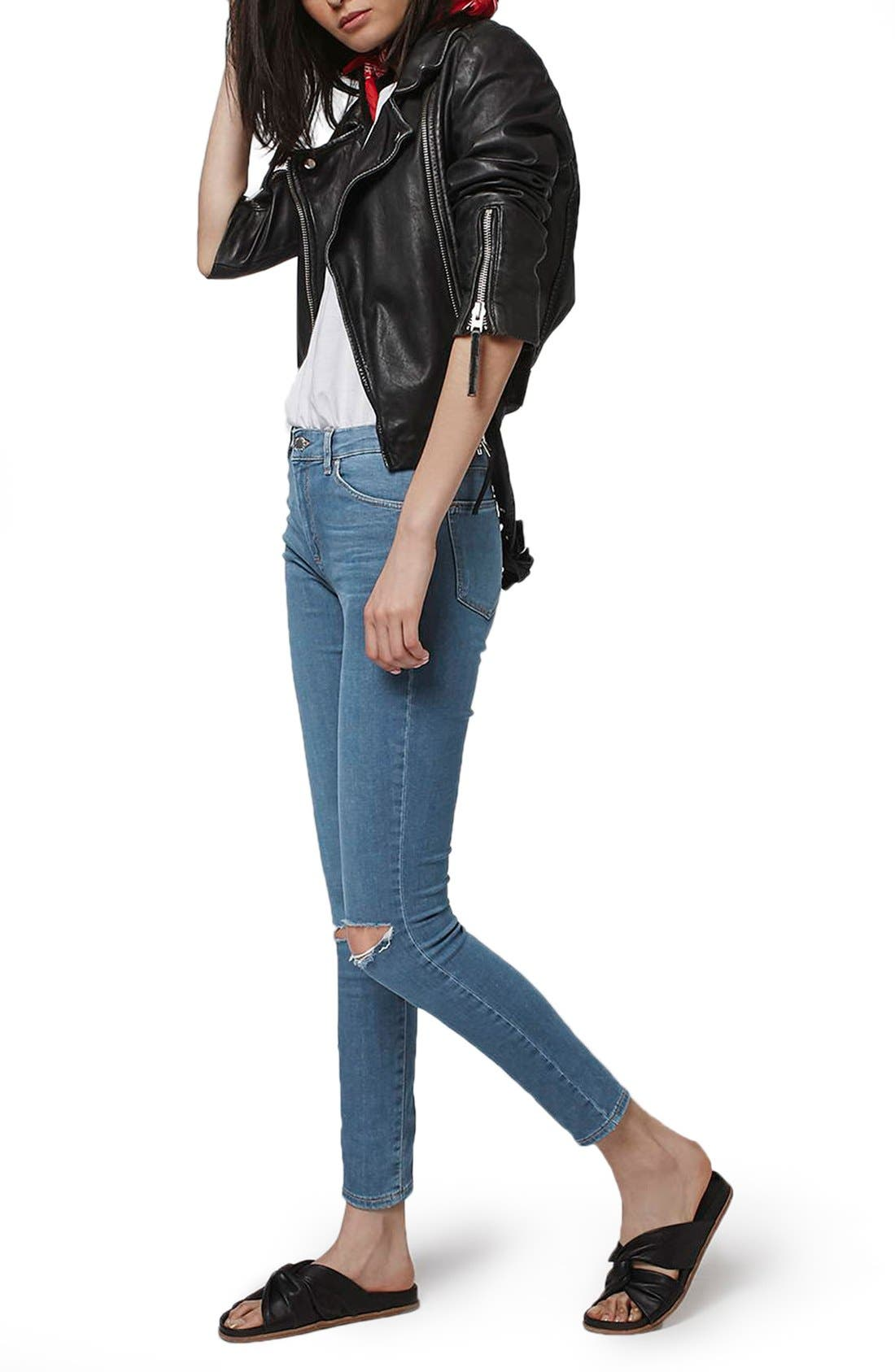 Alternate Image 2  - Topshop Moto 'Leigh' Ripped Skinny Jeans