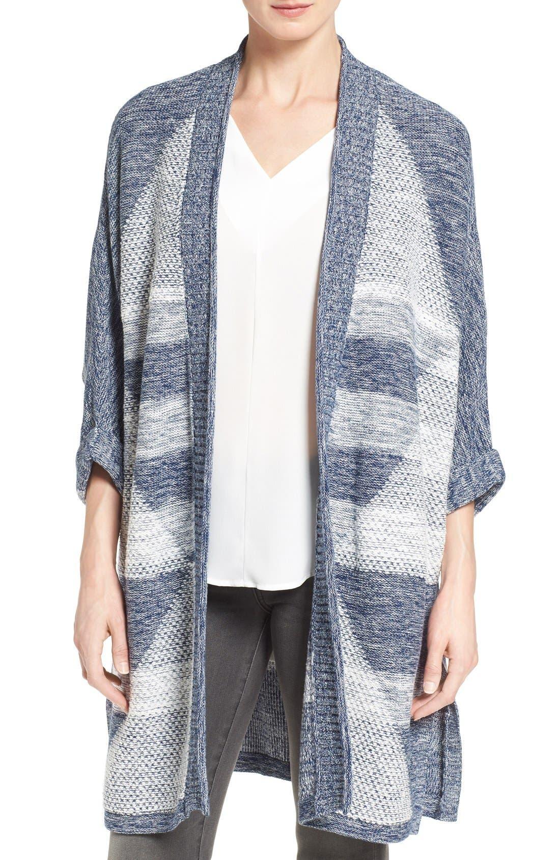 Main Image - Caslon® Cuffed Sleeve Long Cardigan