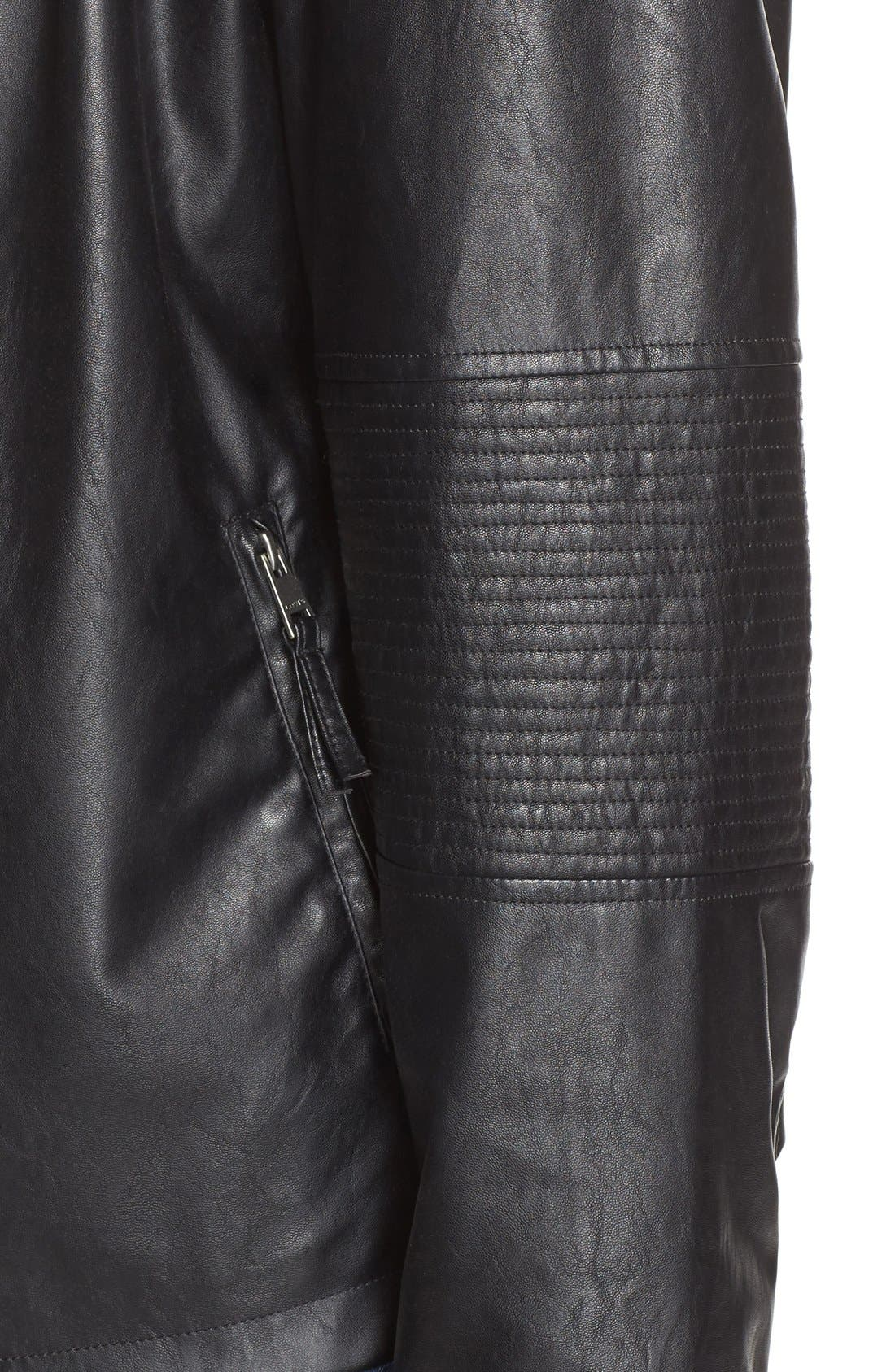 Alternate Image 4  - Levi's® 'Cascade' Faux Leather Jacket (Plus Size)